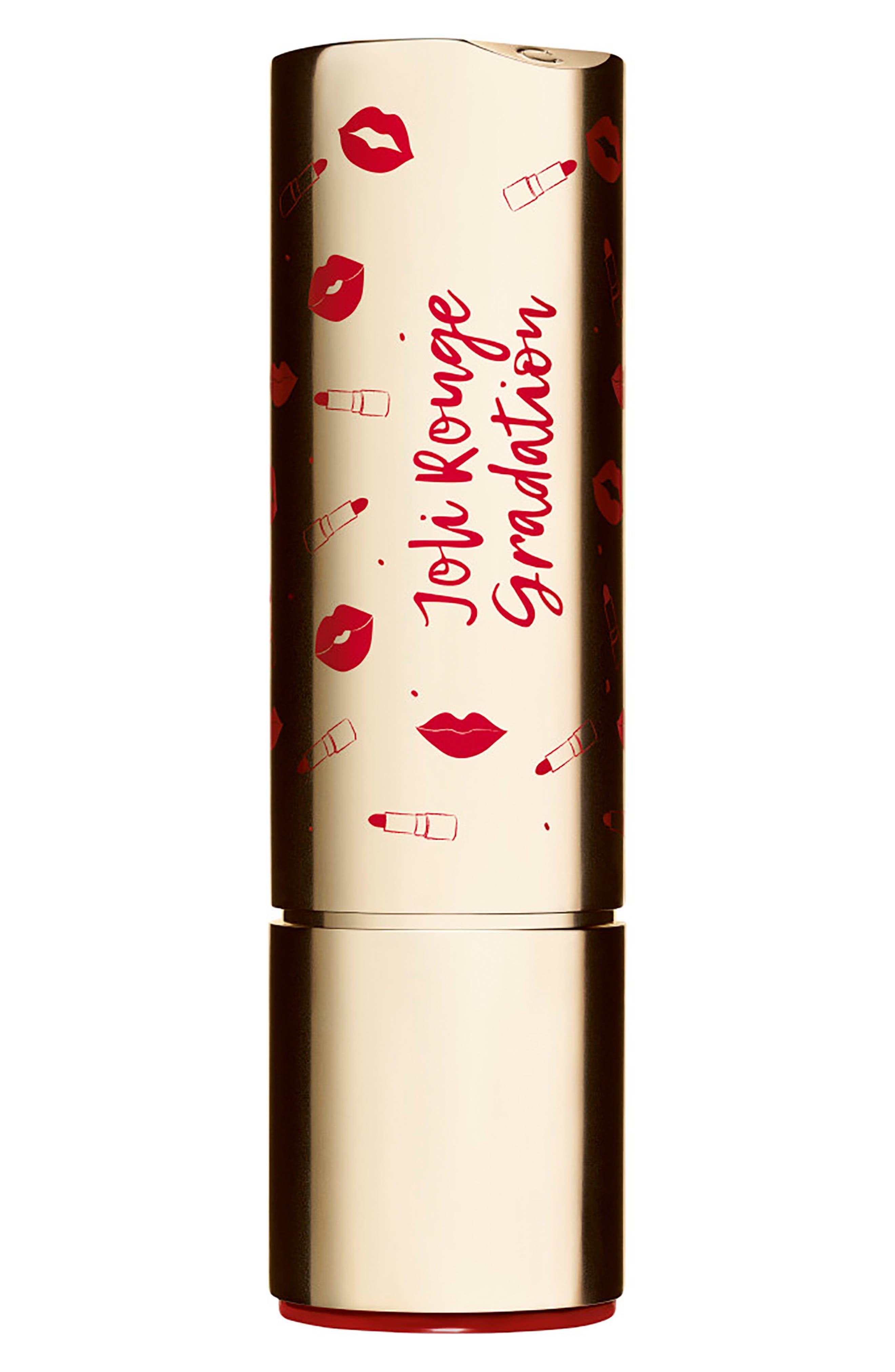CLARINS, Joli Rouge Gradation Lipstick, Alternate thumbnail 2, color, 754 DEEP RED/738 PLUM
