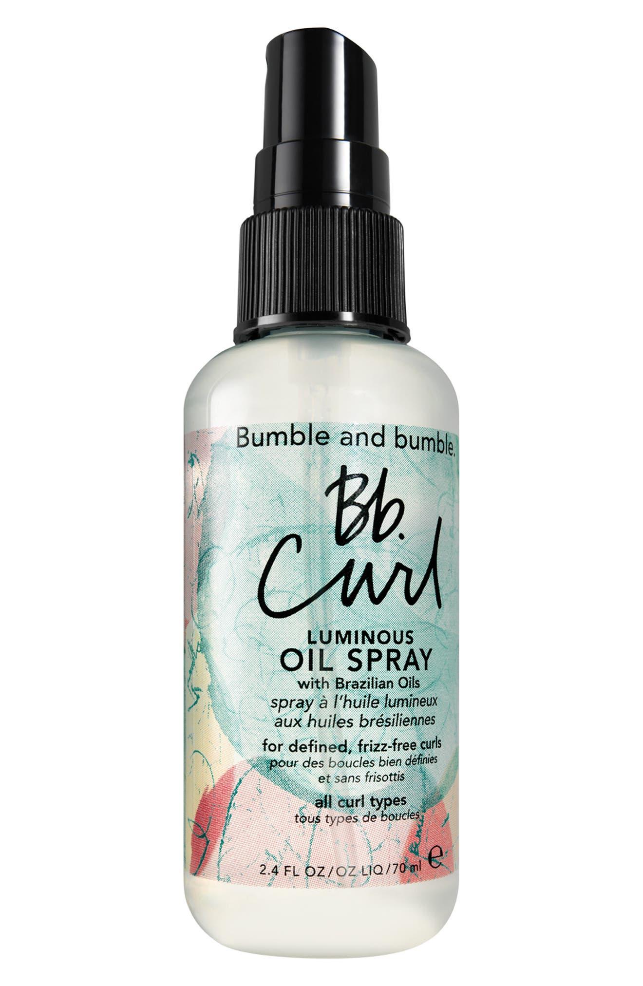 BUMBLE AND BUMBLE., Bumble and bumble Curl Luminous Oil Spray, Main thumbnail 1, color, NO COLOR