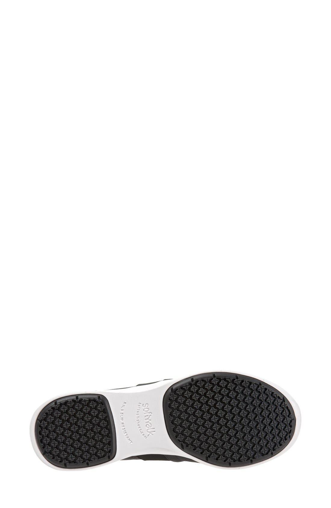 SOFTWALK<SUP>®</SUP>, 'Vantage' Slip-On Sneaker, Alternate thumbnail 4, color, BLACK / WHITE LEATHER