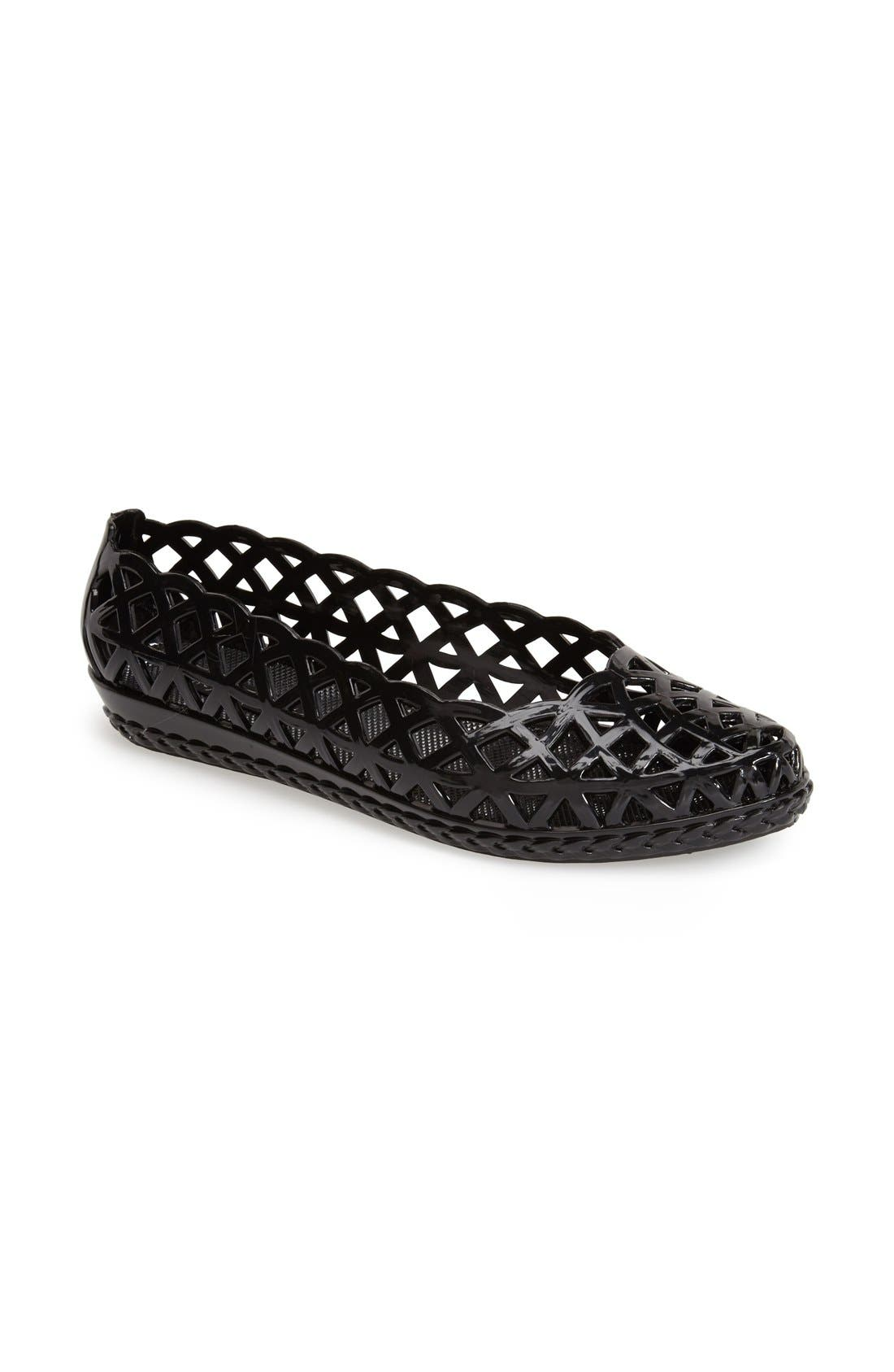 JEFFREY CAMPBELL, 'Jelly-Jam' Slip-On Flat, Main thumbnail 1, color, 001