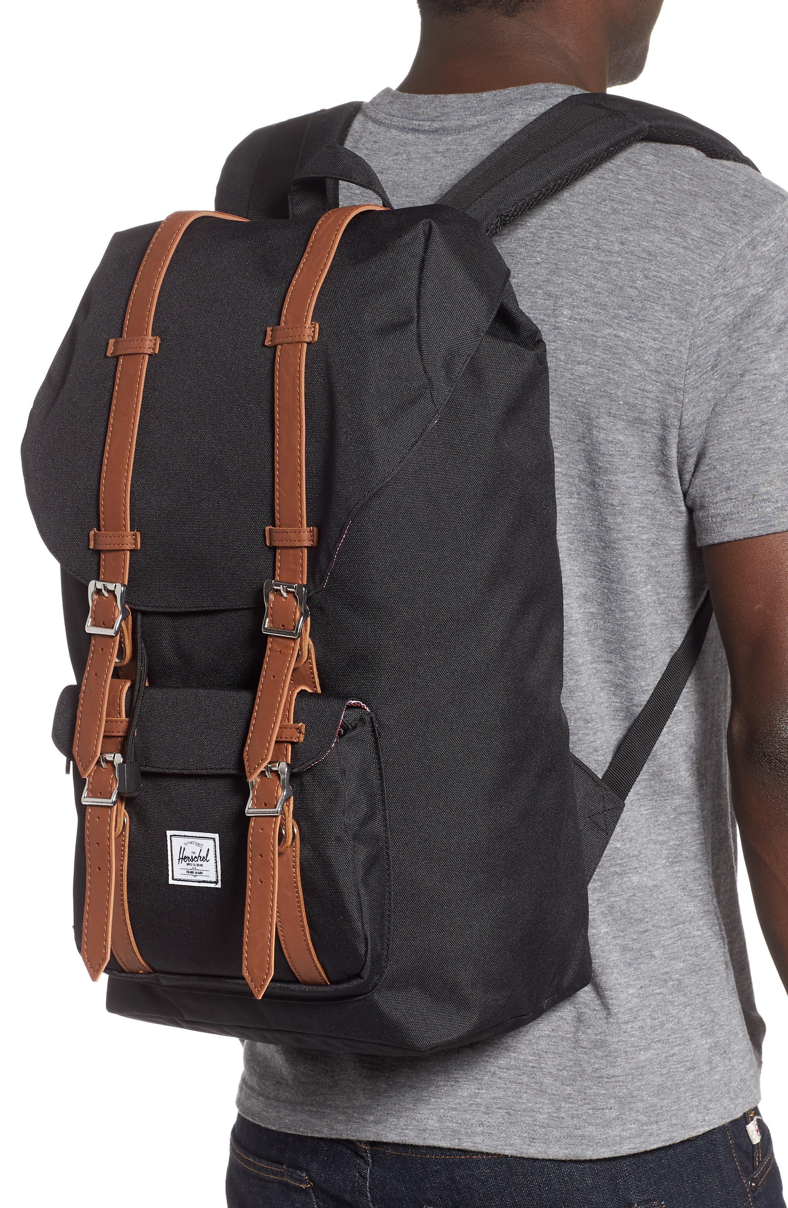 HERSCHEL SUPPLY CO., 'Little America' Backpack, Alternate thumbnail 2, color, BLACK