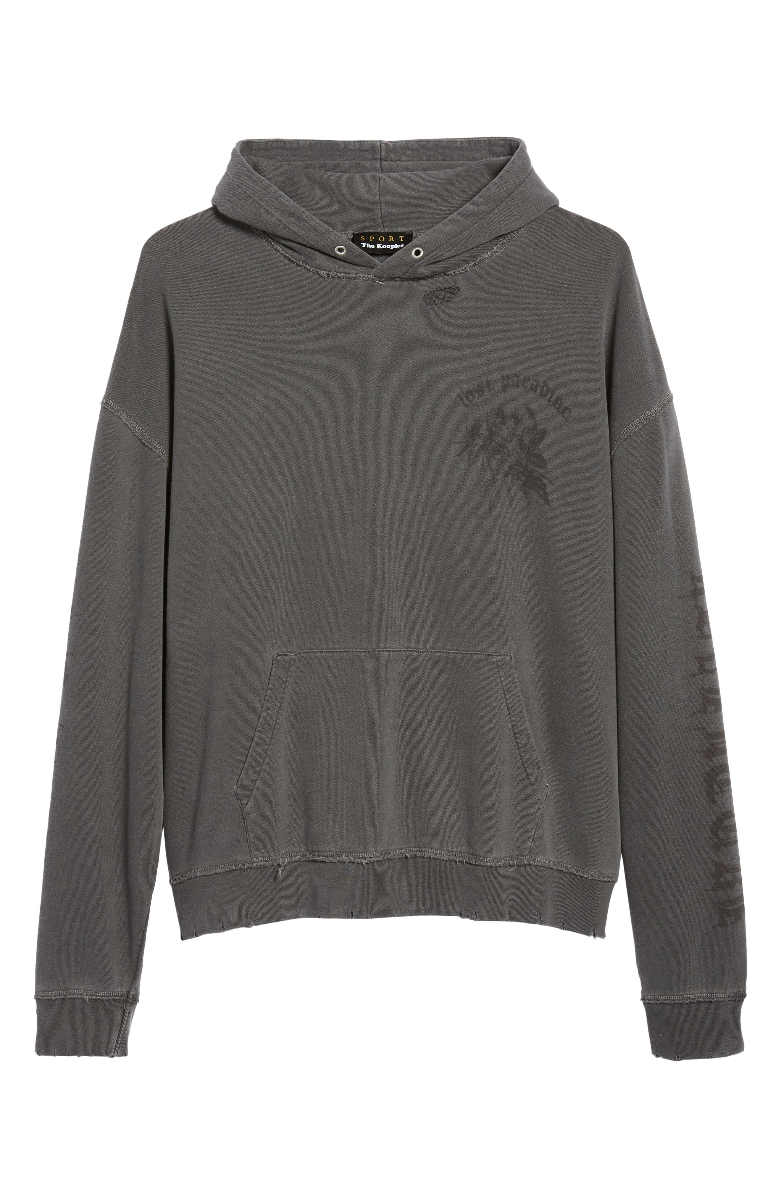 THE KOOPLES, Oversize Hoodie, Alternate thumbnail 6, color, 050