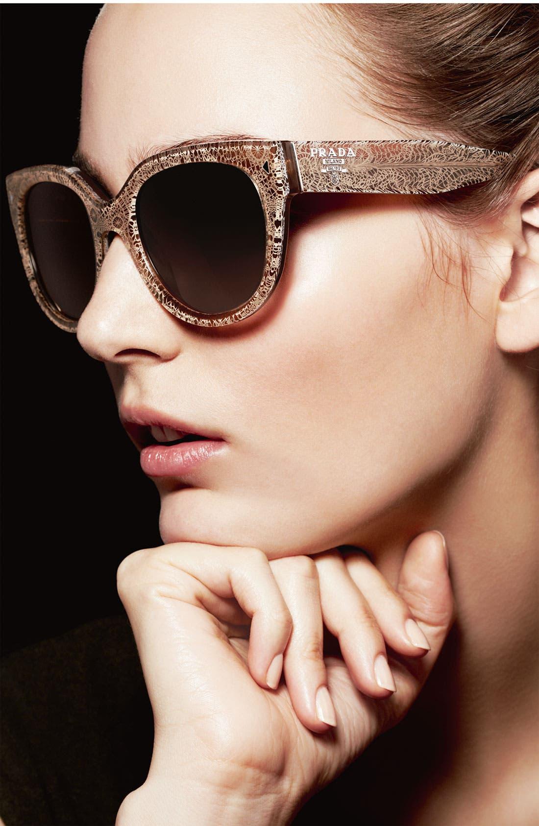 PRADA 54mm Cat Eye Sunglasses, Main, color, 900
