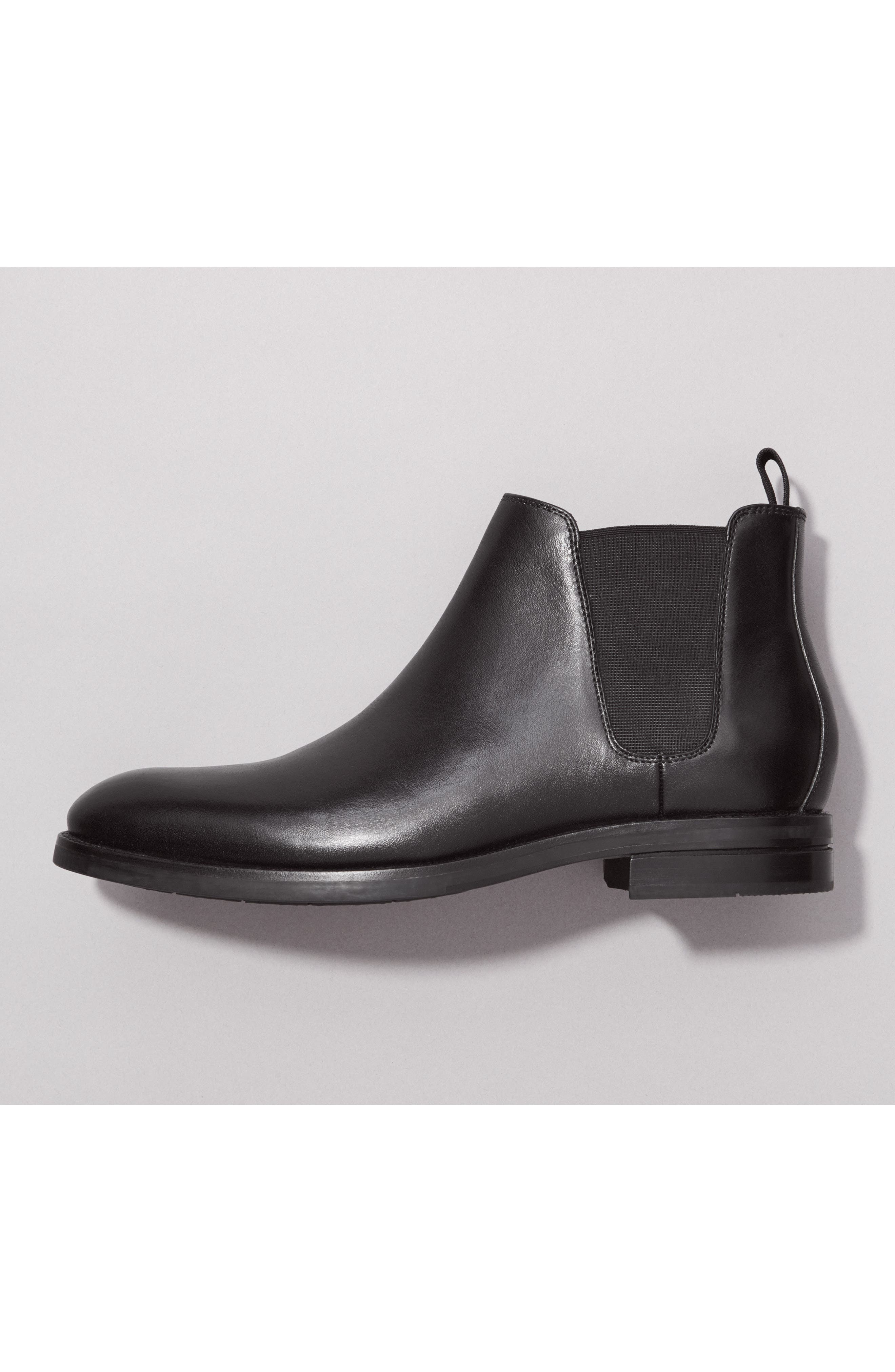 COLE HAAN, Wakefield Grand Chelsea Boot, Alternate thumbnail 7, color, BLACK LEATHER