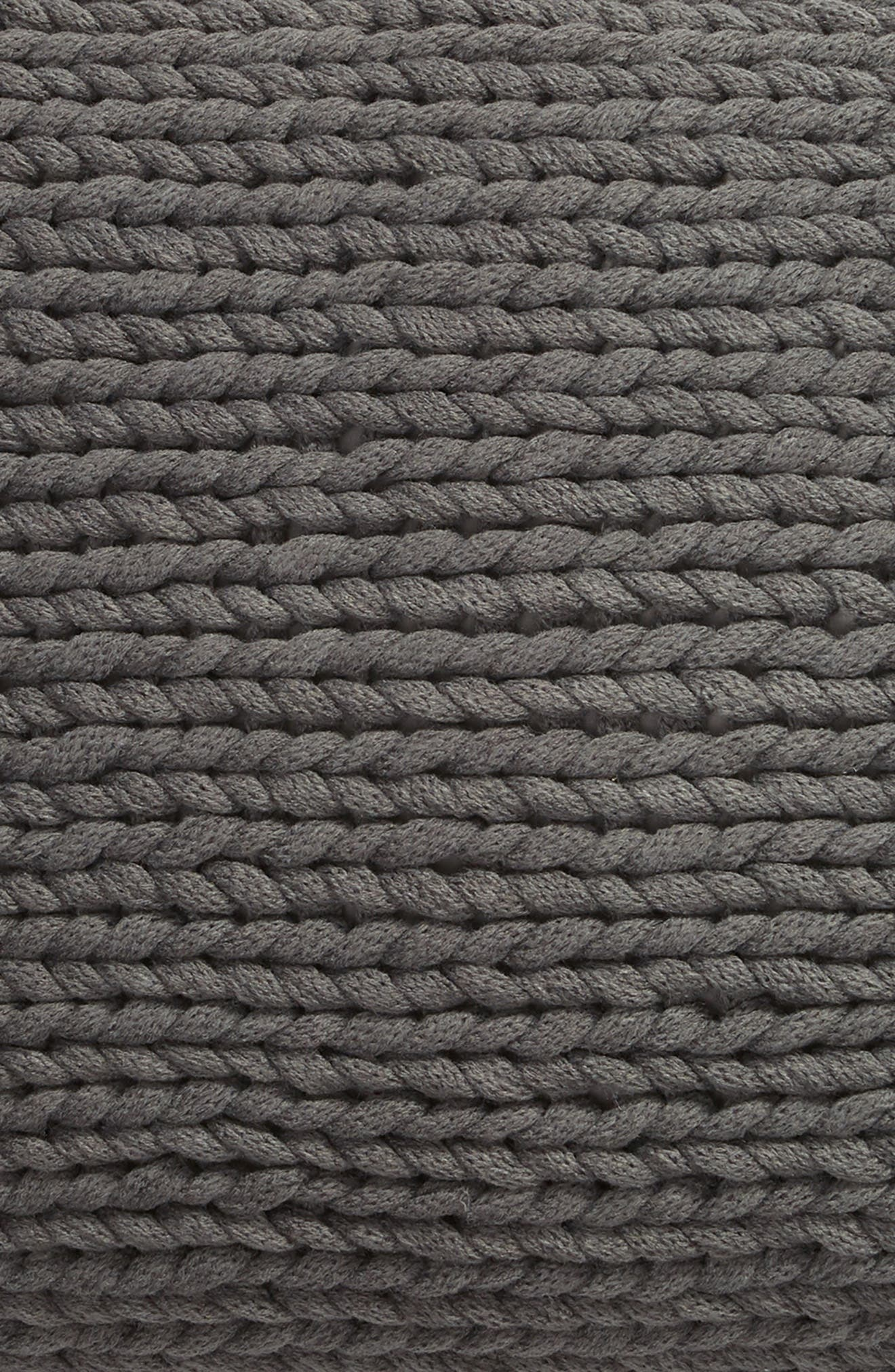 TREASURE & BOND, Jersey Rope Pillow, Alternate thumbnail 3, color, GREY ONYX