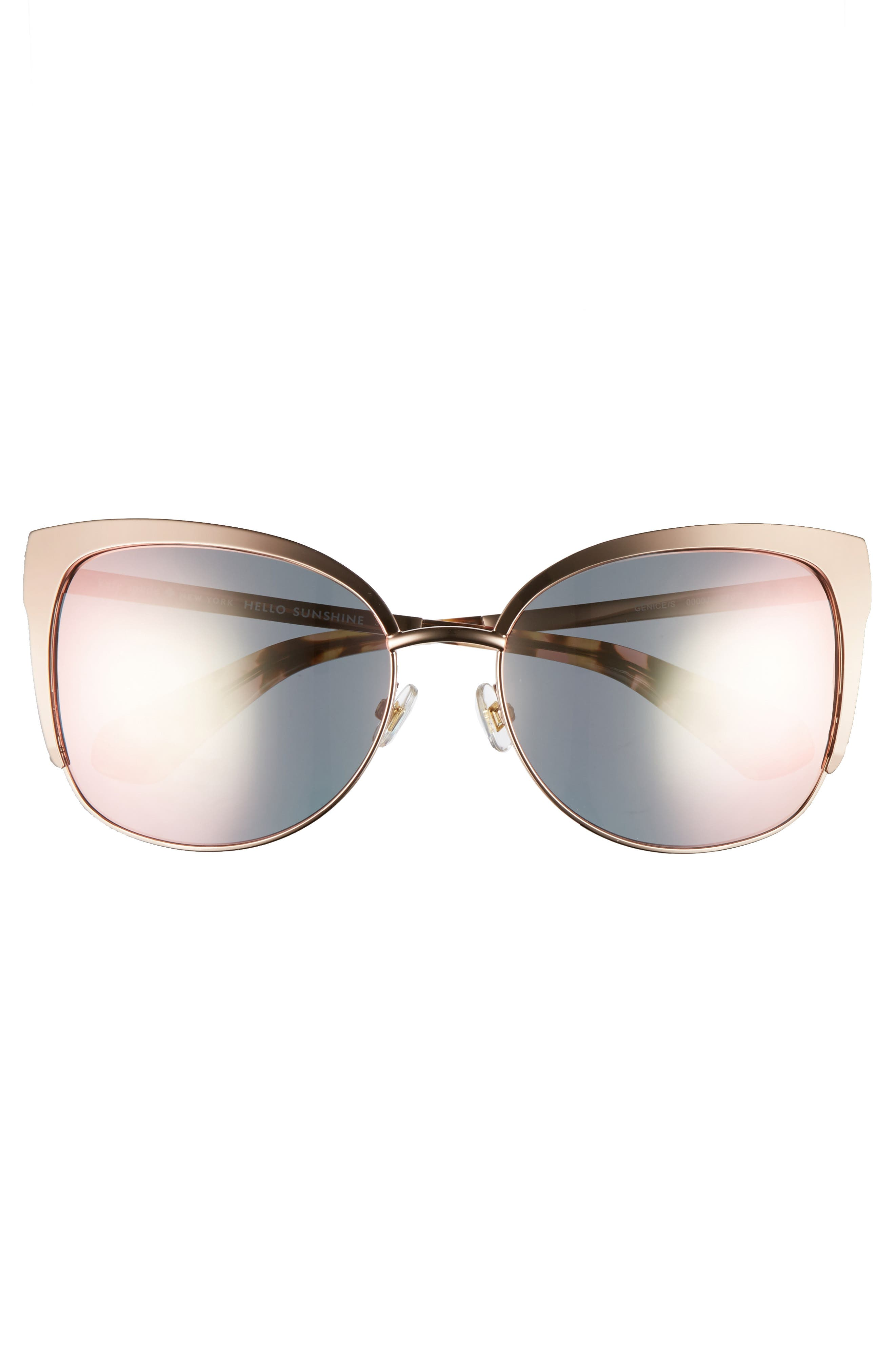 KATE SPADE NEW YORK, 'genice' 57mm cat-eye sunglasses, Alternate thumbnail 3, color, 710