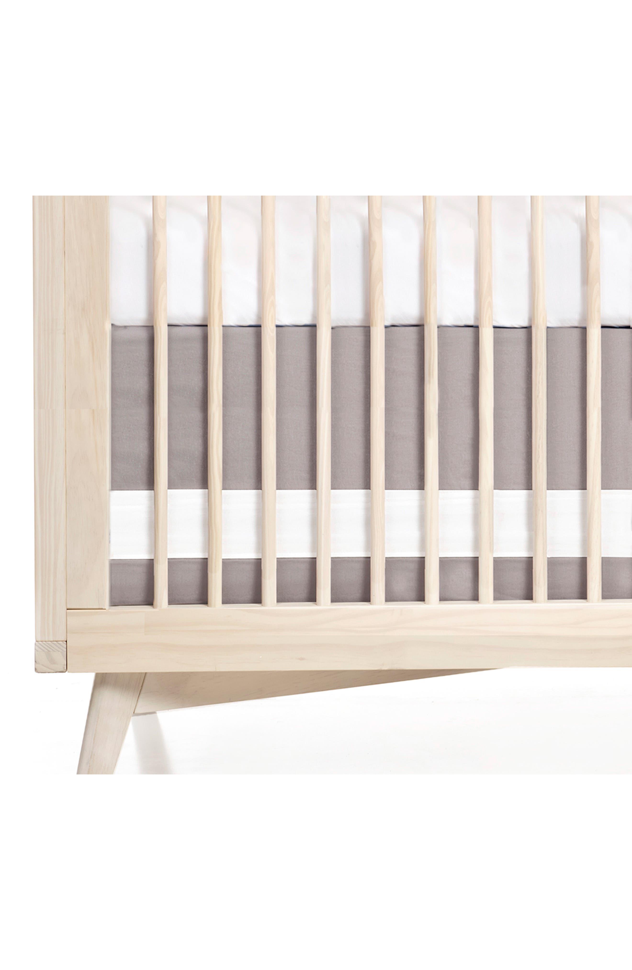 OILO, Llama Cuddle Blanket, Crib Skirt & Crib Sheet Set, Alternate thumbnail 5, color, LLAMA