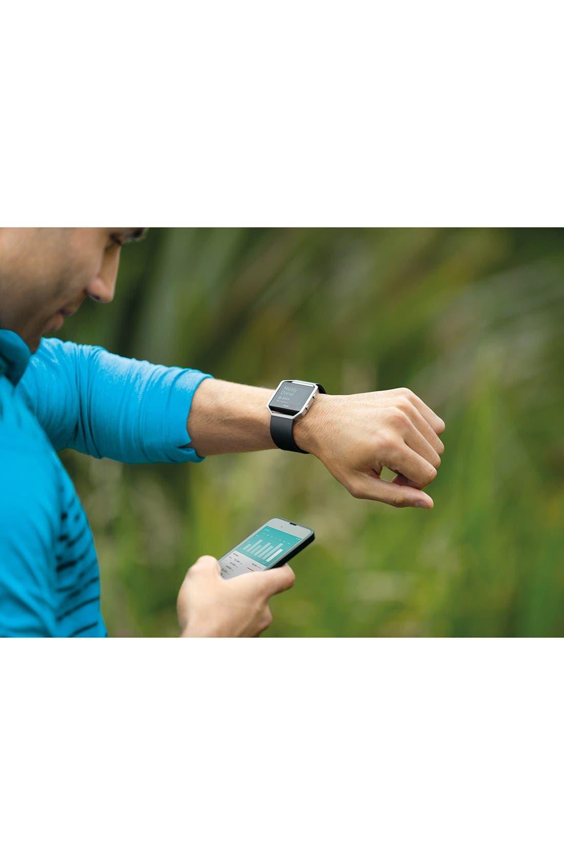 FITBIT, Blaze Smart Fitness Watch, Alternate thumbnail 6, color, 001