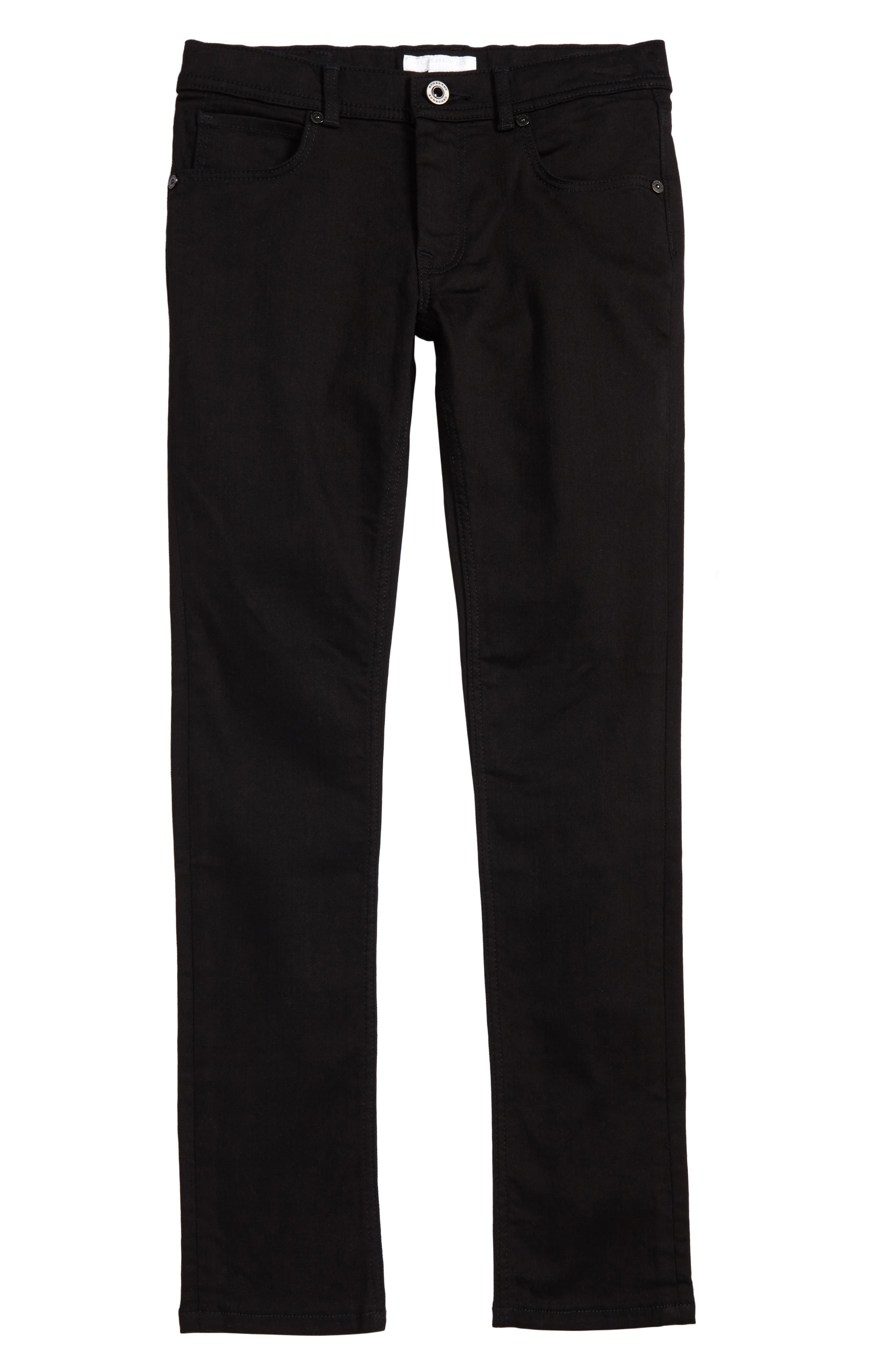 BURBERRY, Skinny Jeans, Main thumbnail 1, color, BLACK