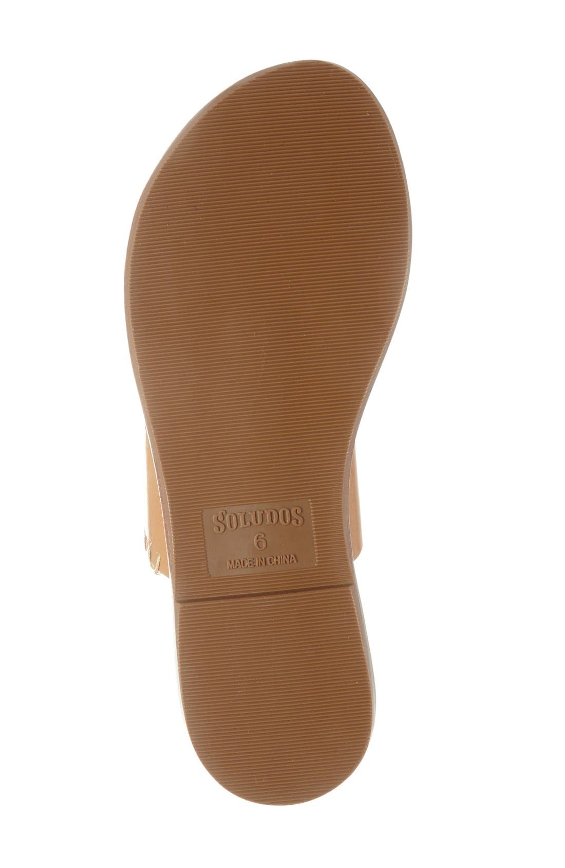 SOLUDOS, Slide Sandal, Alternate thumbnail 4, color, ACORN/ BROWN LEATHER