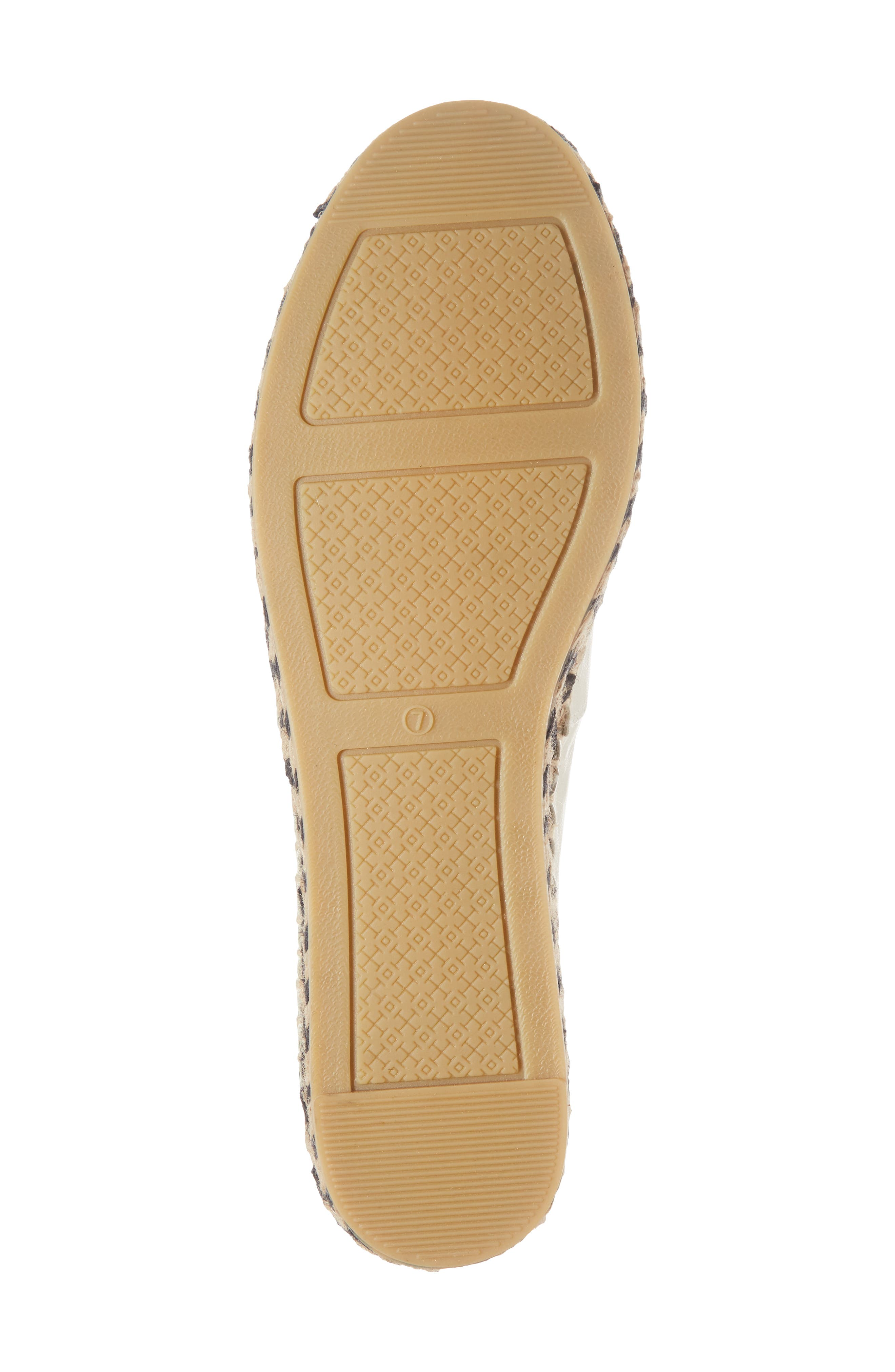 TORY BURCH, Colorblock Platform Espadrille, Alternate thumbnail 6, color, PERFECT IVORY/ PERFECT BLACK