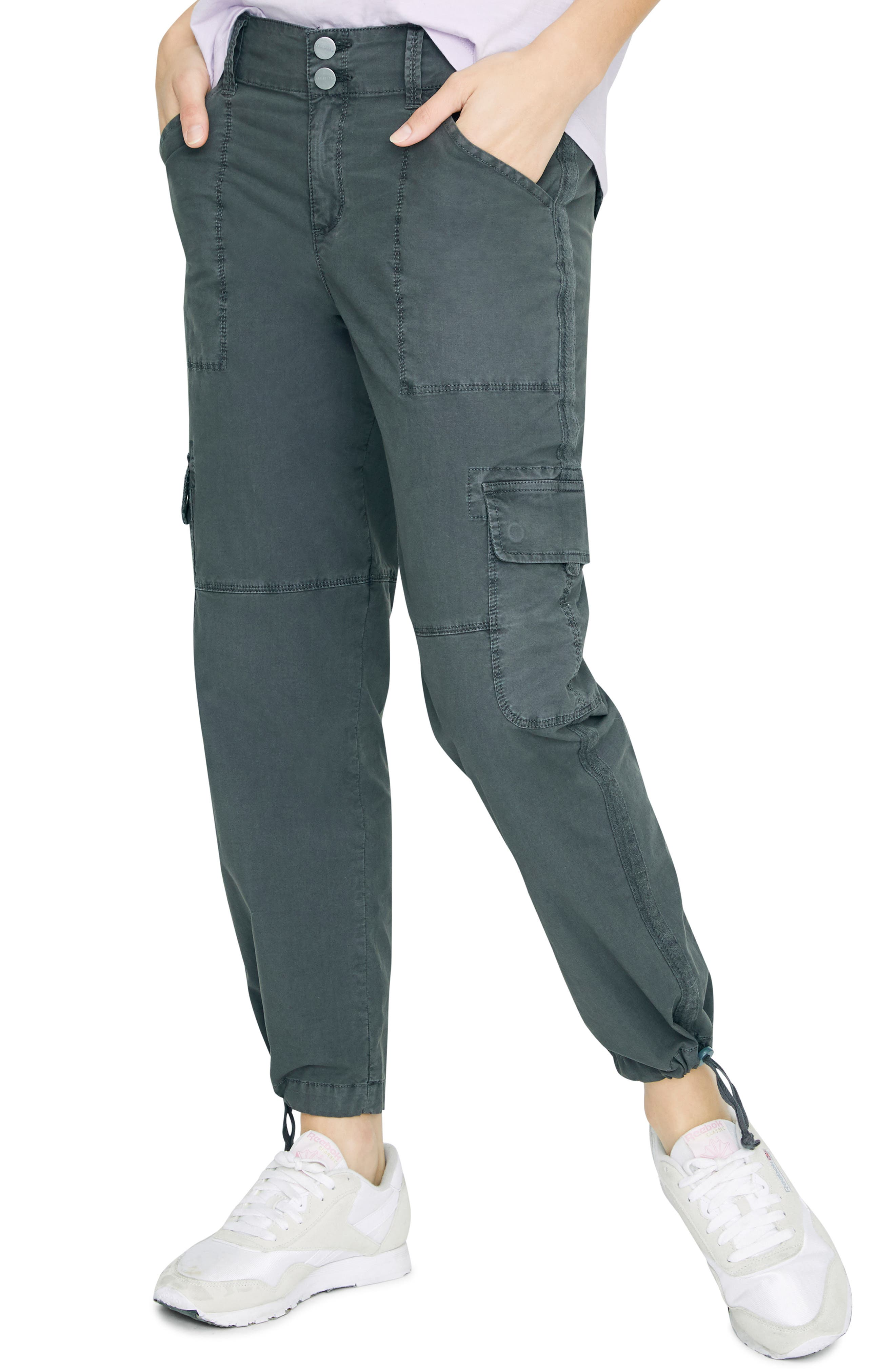 SANCTUARY, Terrain Crop Cargo Pants, Main thumbnail 1, color, WASHED FADED BLACK