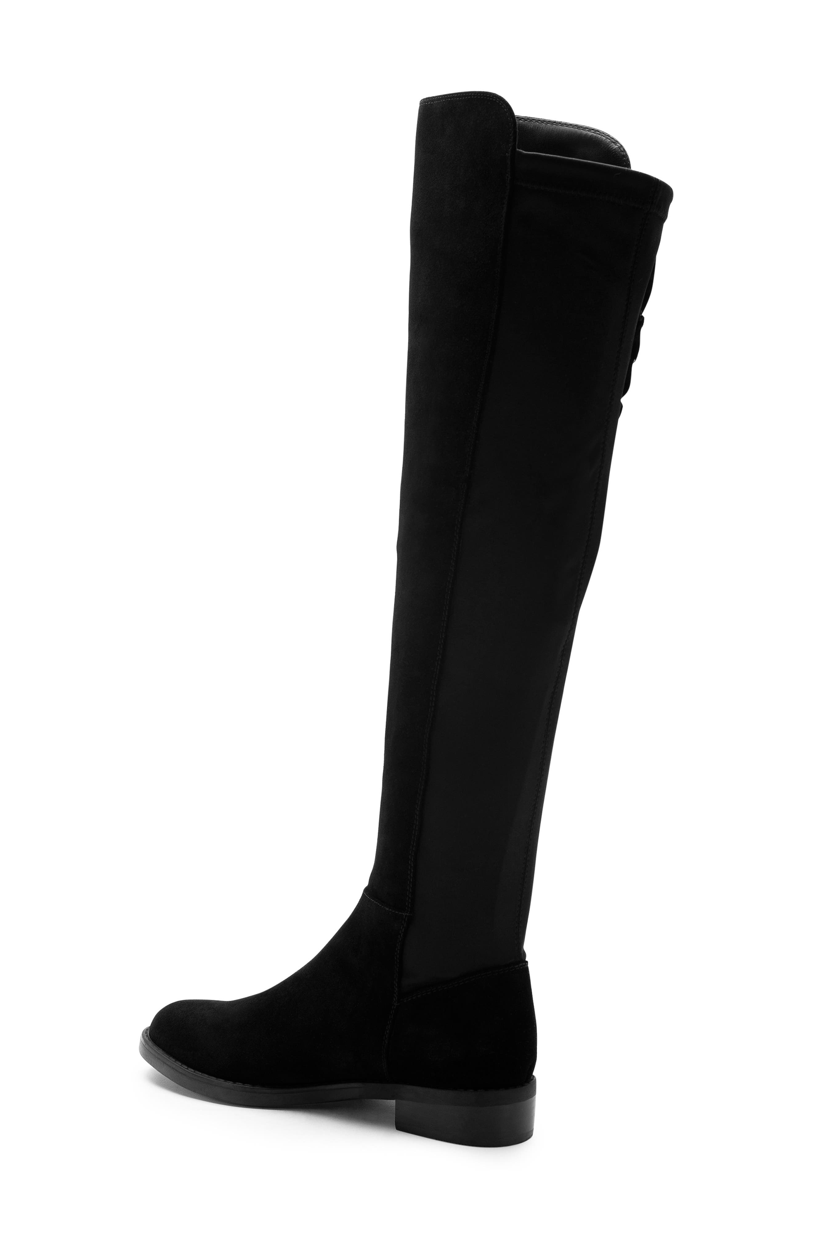 BLONDO, Ethos Over the Knee Waterproof Stretch Boot, Alternate thumbnail 2, color, BLACK SUEDE