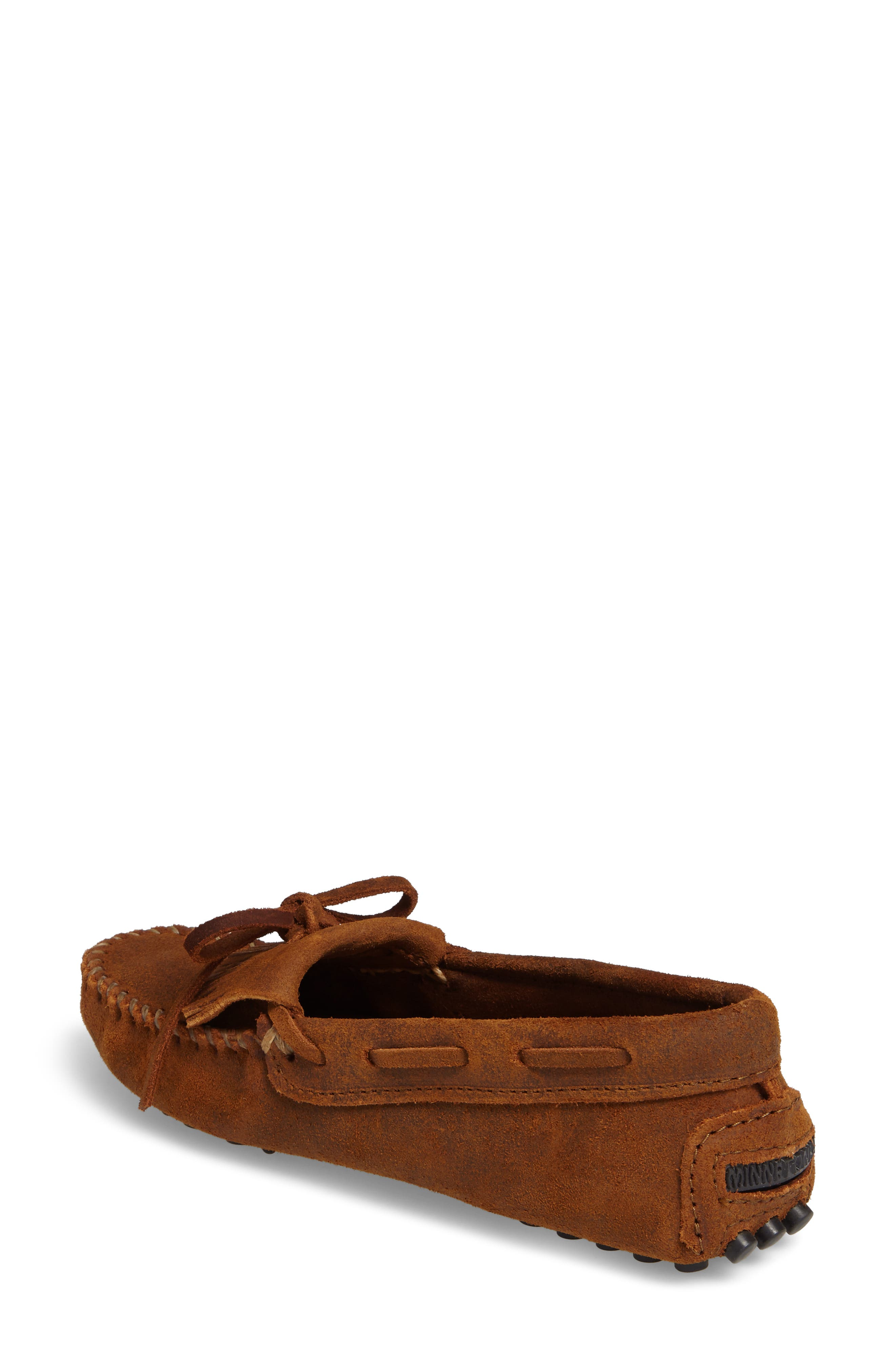 MINNETONKA, Kilty Driving Moccasin, Alternate thumbnail 2, color, BROWN RUFF