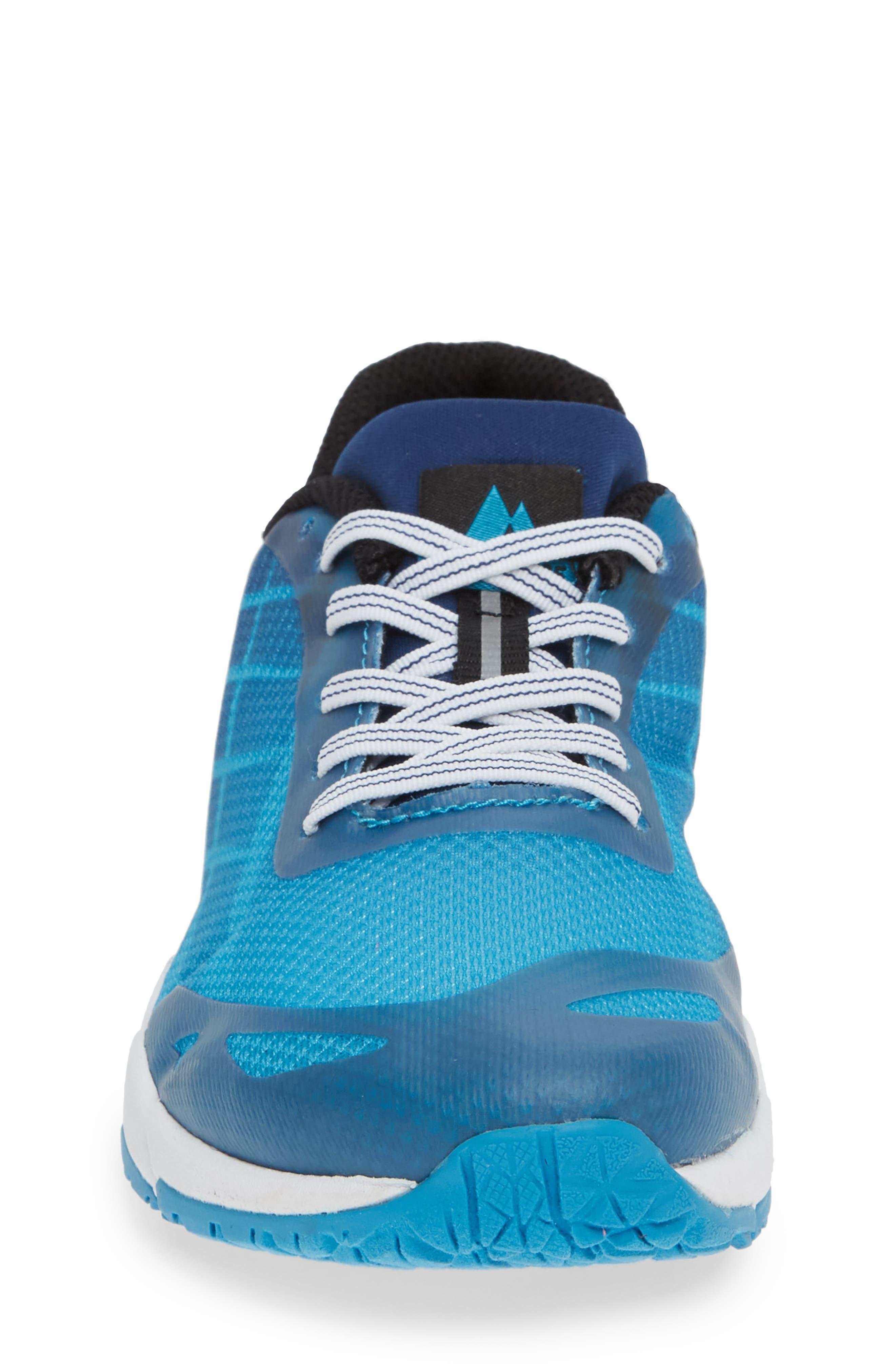 MERRELL, Bare Access Sneaker, Alternate thumbnail 4, color, BLUE SYNTHETIC