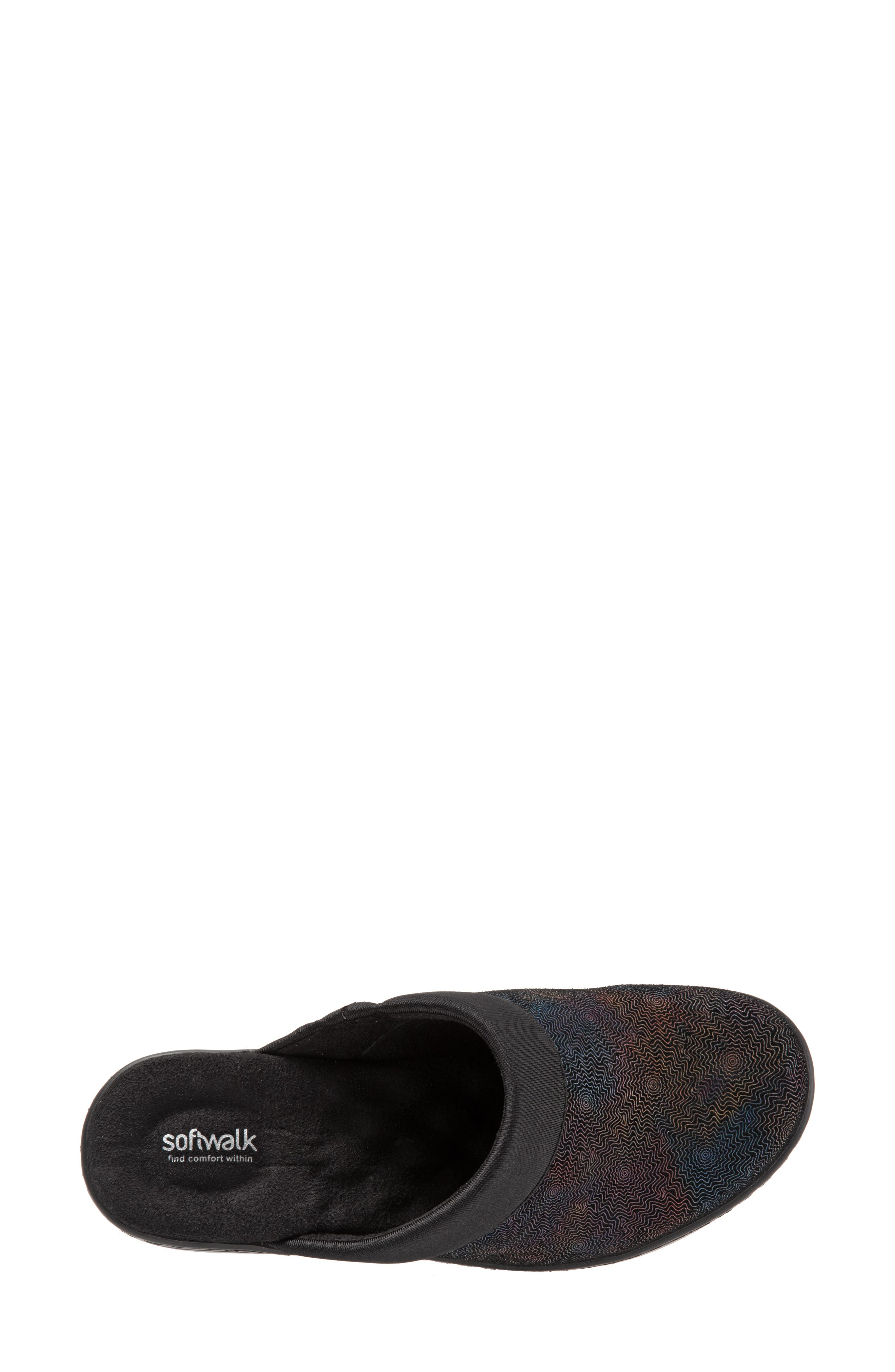 SOFTWALK<SUP>®</SUP>, 'Murietta' Clog, Alternate thumbnail 5, color, BLACK MULTI LEATHER