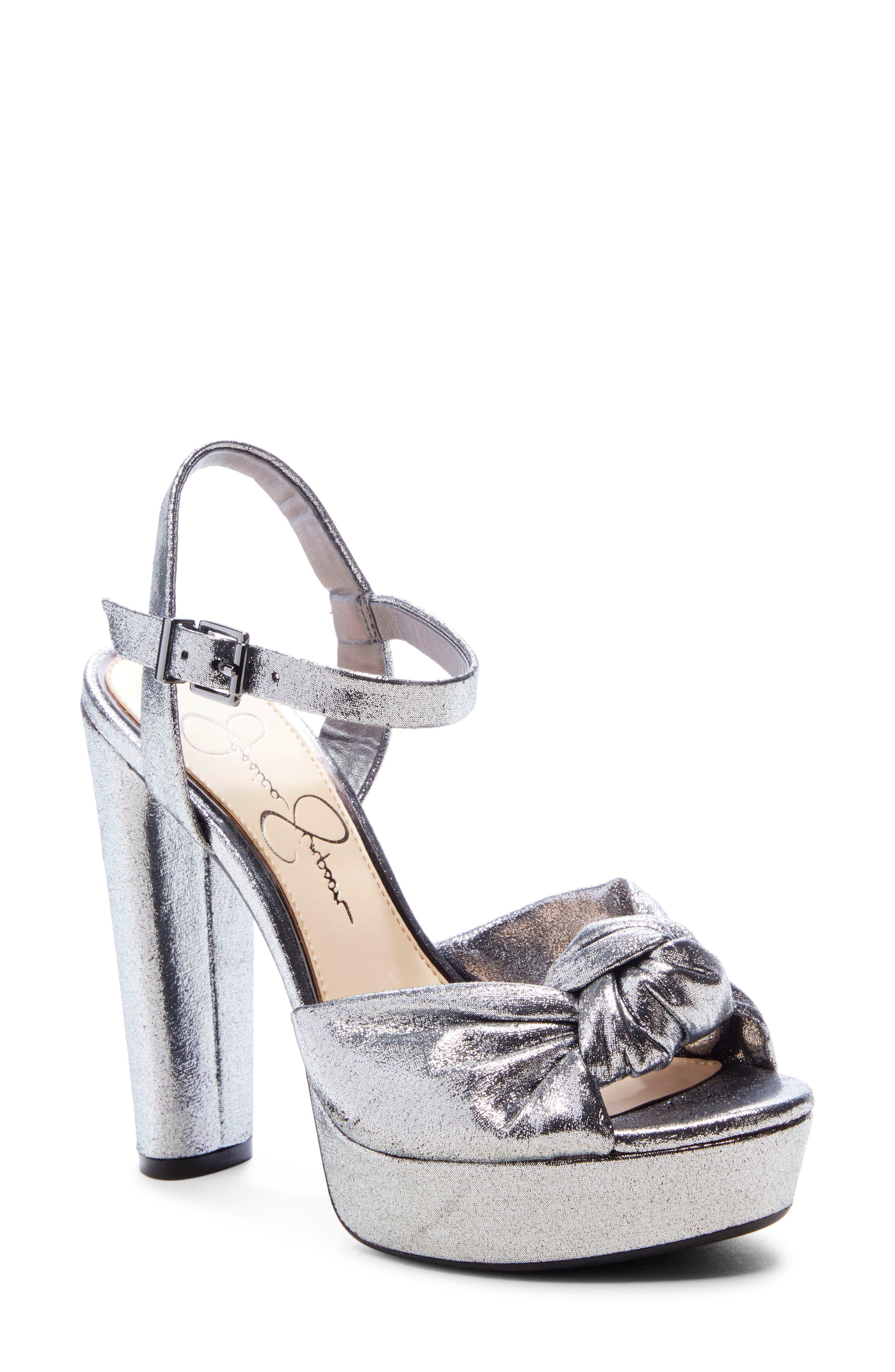 Jessica Simpson Ivrey Knot Platform Sandal, Grey