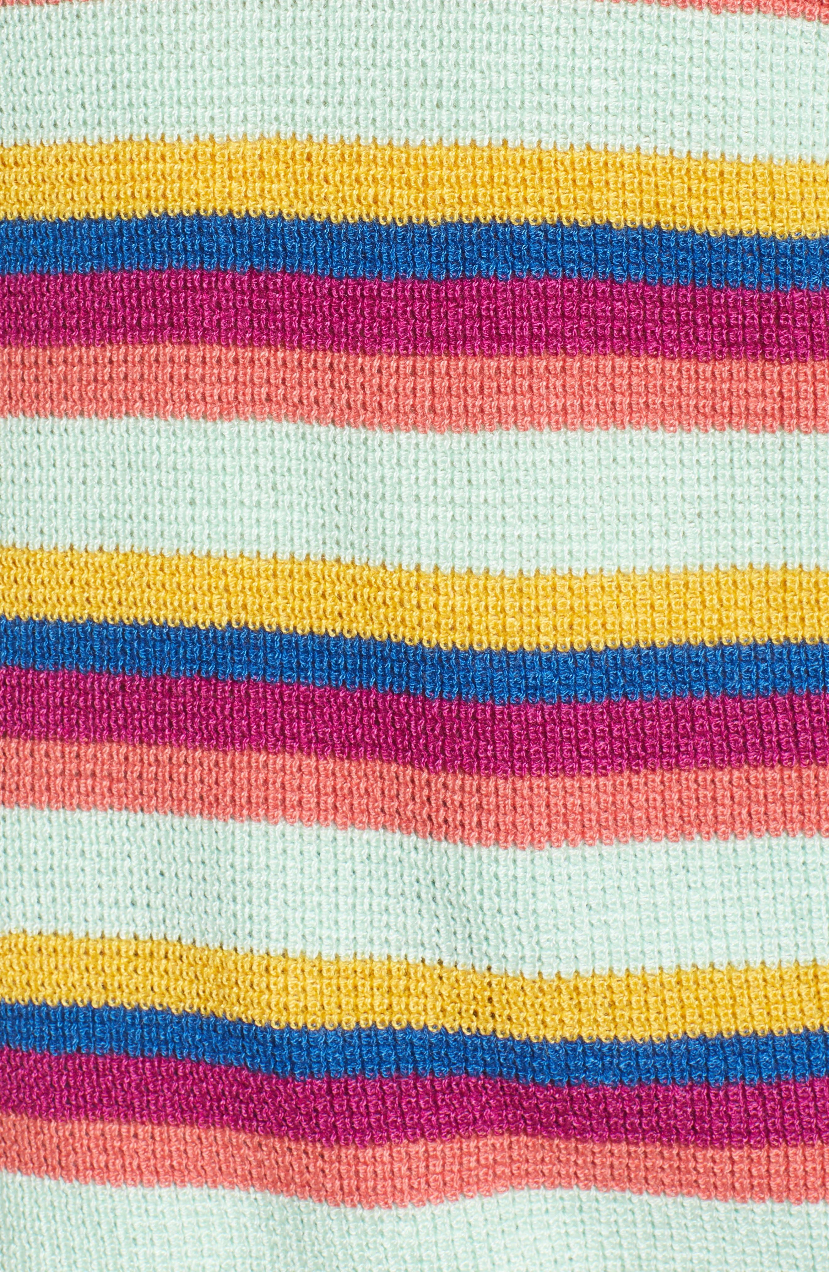 BP., Stripe Thermal Stitch Sweater, Alternate thumbnail 6, color, 660
