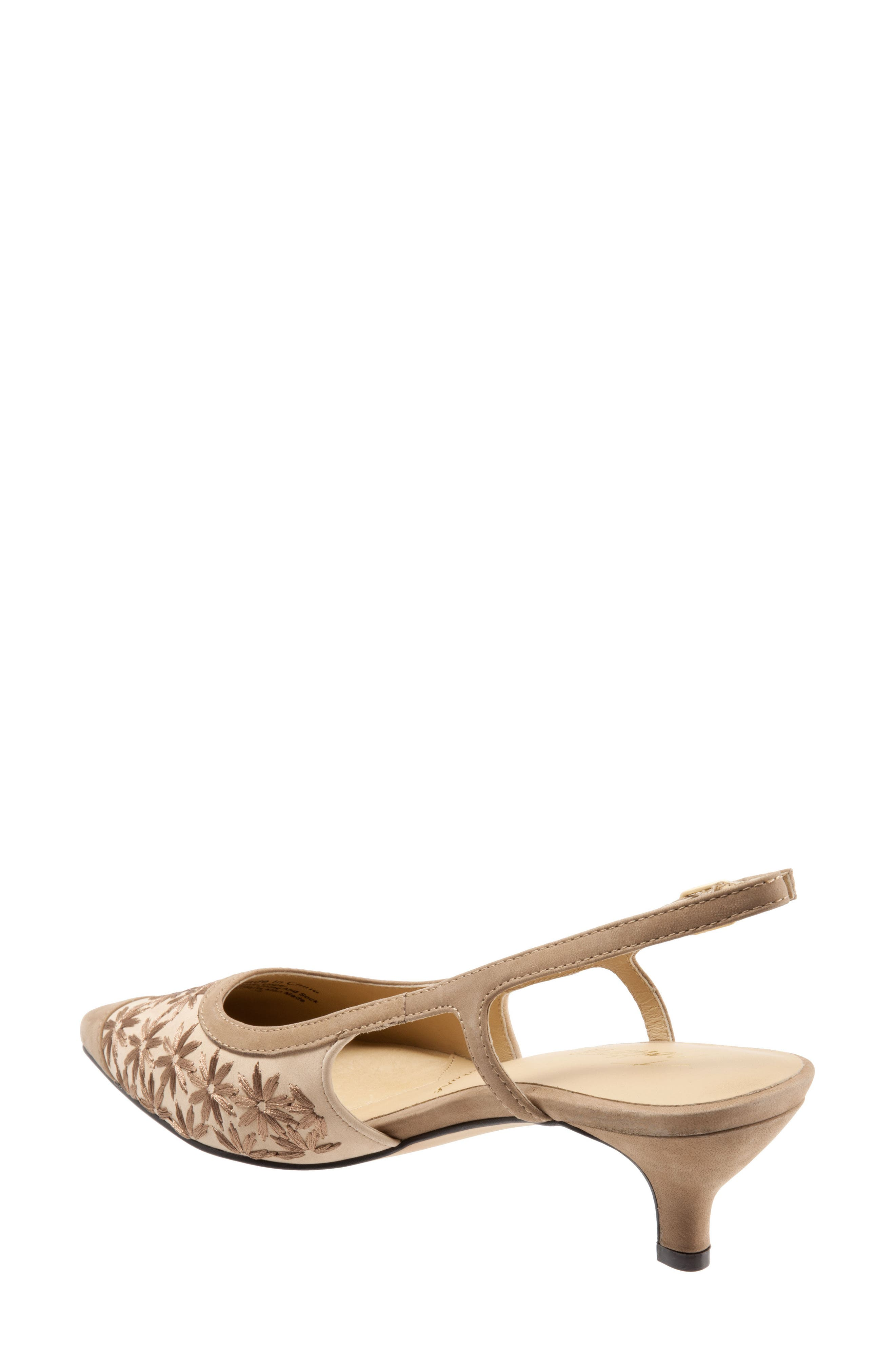 TROTTERS, 'Kimberly' Woven Leather Slingback Pump, Alternate thumbnail 2, color, DARK TAN/ SAND/ BRONZE LEATHER