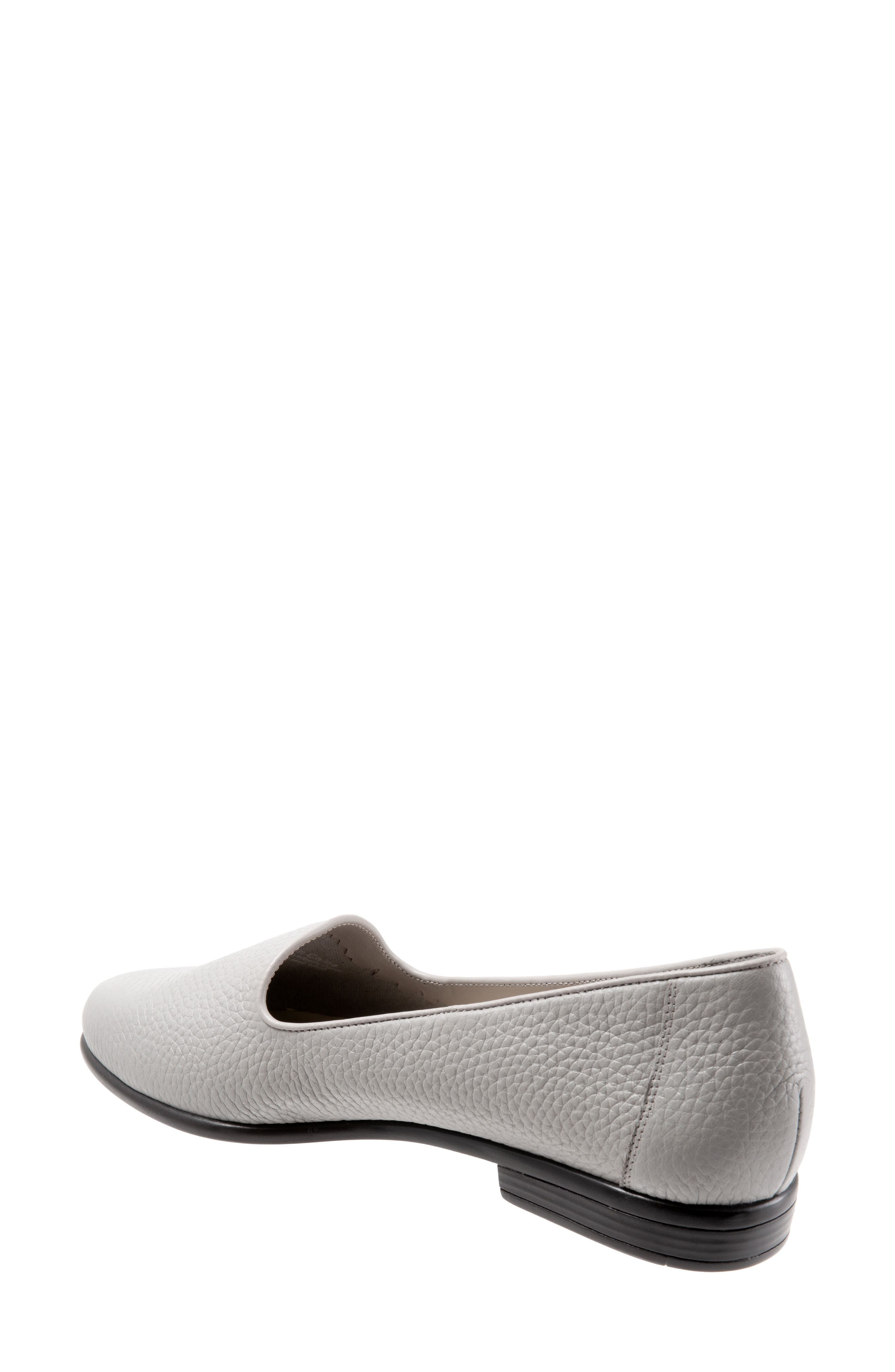TROTTERS, Liz Loafer, Alternate thumbnail 2, color, GREY LEATHER