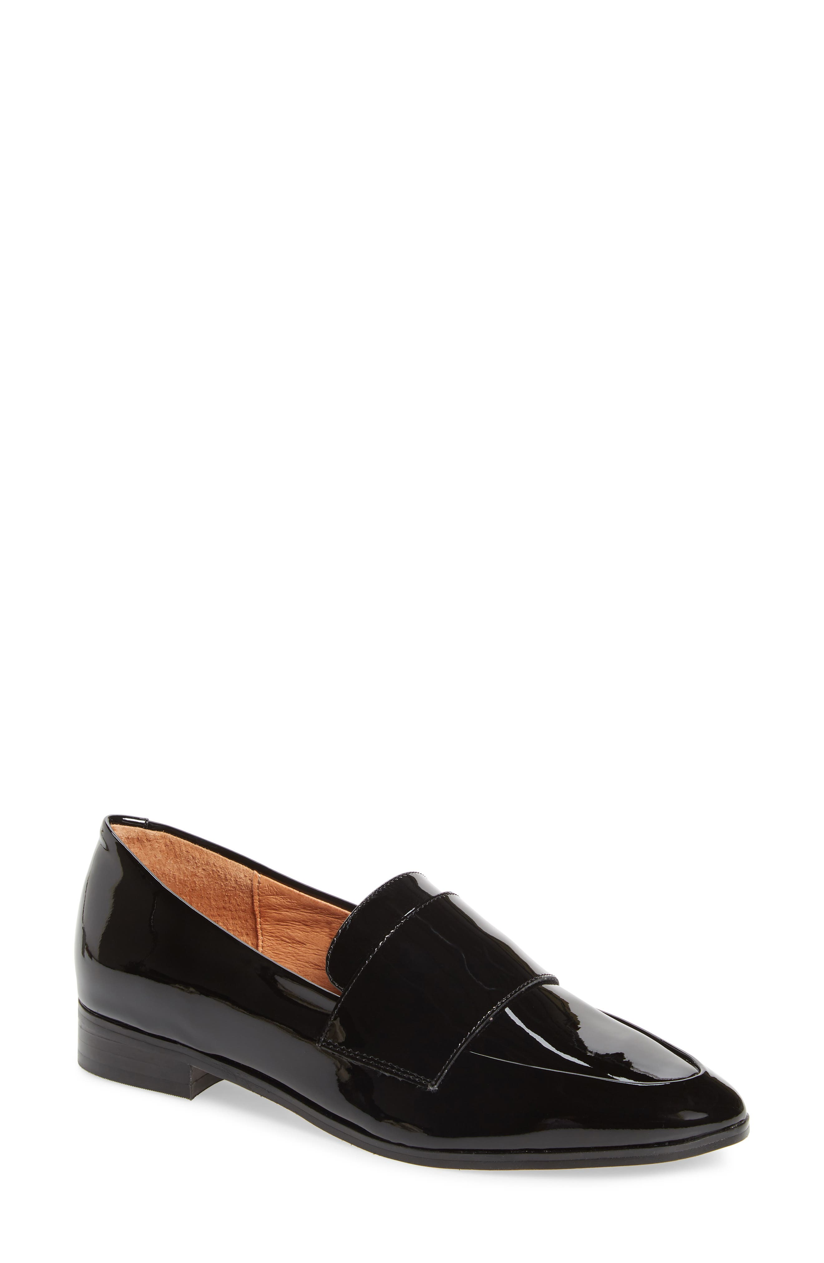 HALOGEN<SUP>®</SUP>, Emilia Loafer, Main thumbnail 1, color, BLACK PATENT LEATHER
