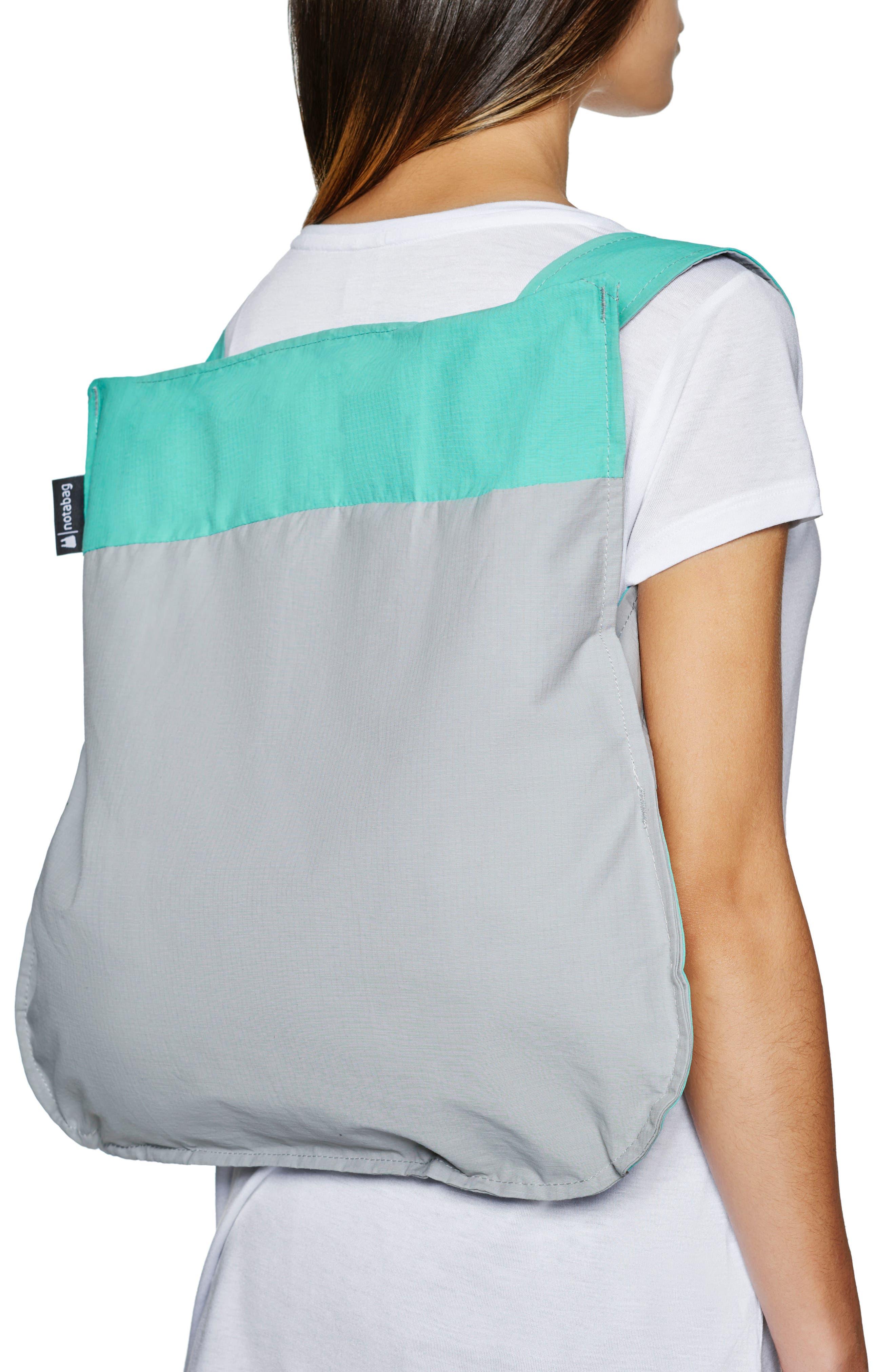 NOTABAG, Convertible Tote Backpack, Alternate thumbnail 2, color, MINT/ GREY