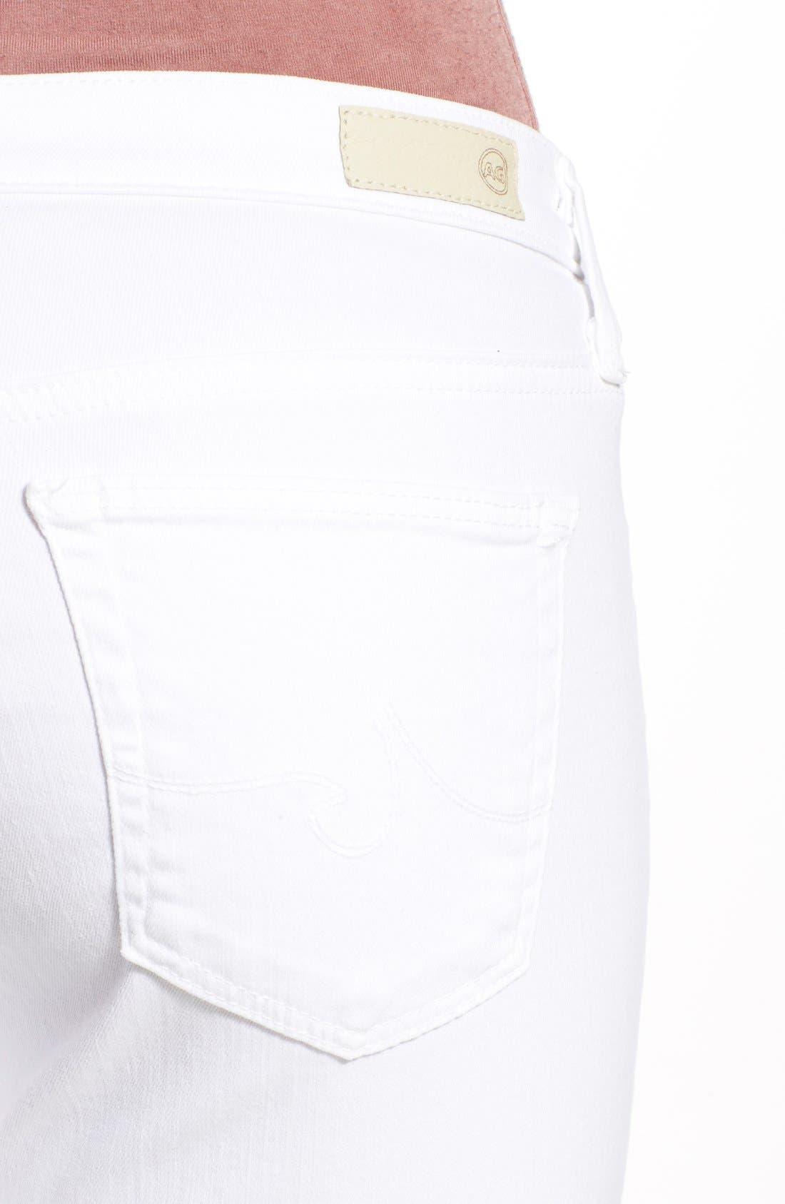 AG, 'The Legging' Cutoff Ankle Skinny Jeans, Alternate thumbnail 6, color, WHITE