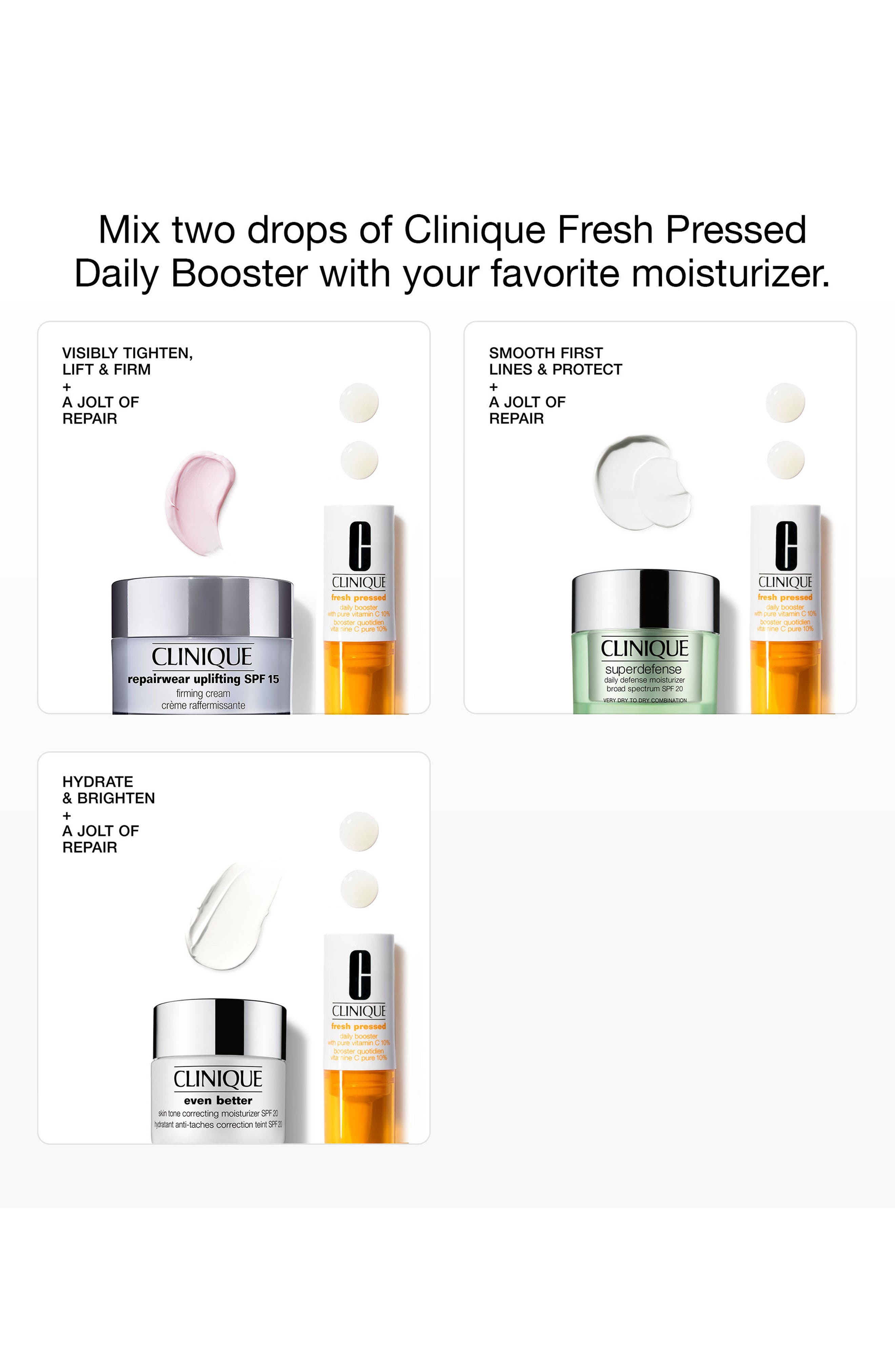 CLINIQUE, Fresh Pressed Daily Booster with Pure Vitamin C 10% Serum, Alternate thumbnail 4, color, NO COLOR