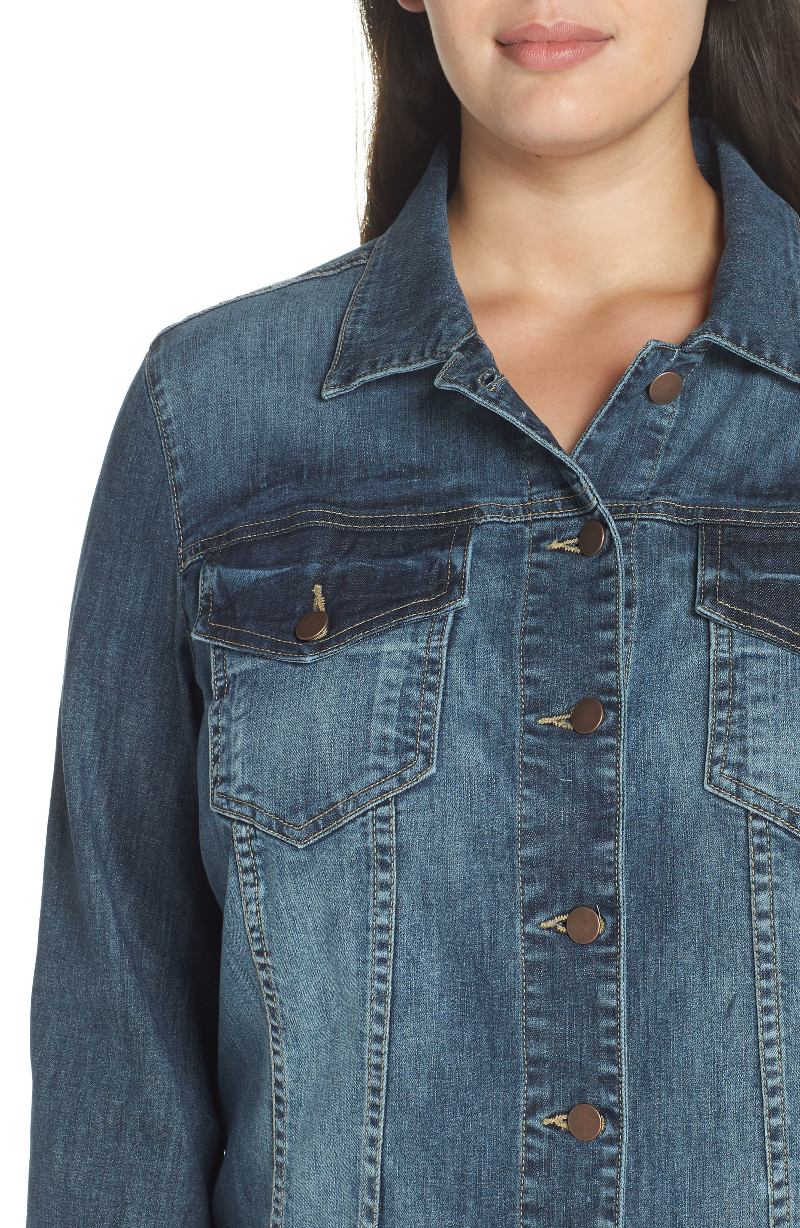 KUT FROM THE KLOTH, Helena Jean Jacket, Alternate thumbnail 5, color, LIBERAL