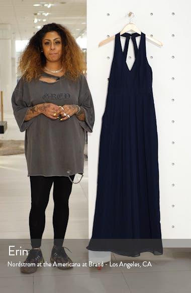 Arielle V-Neck Lux Chiffon Jumpsuit, sales video thumbnail