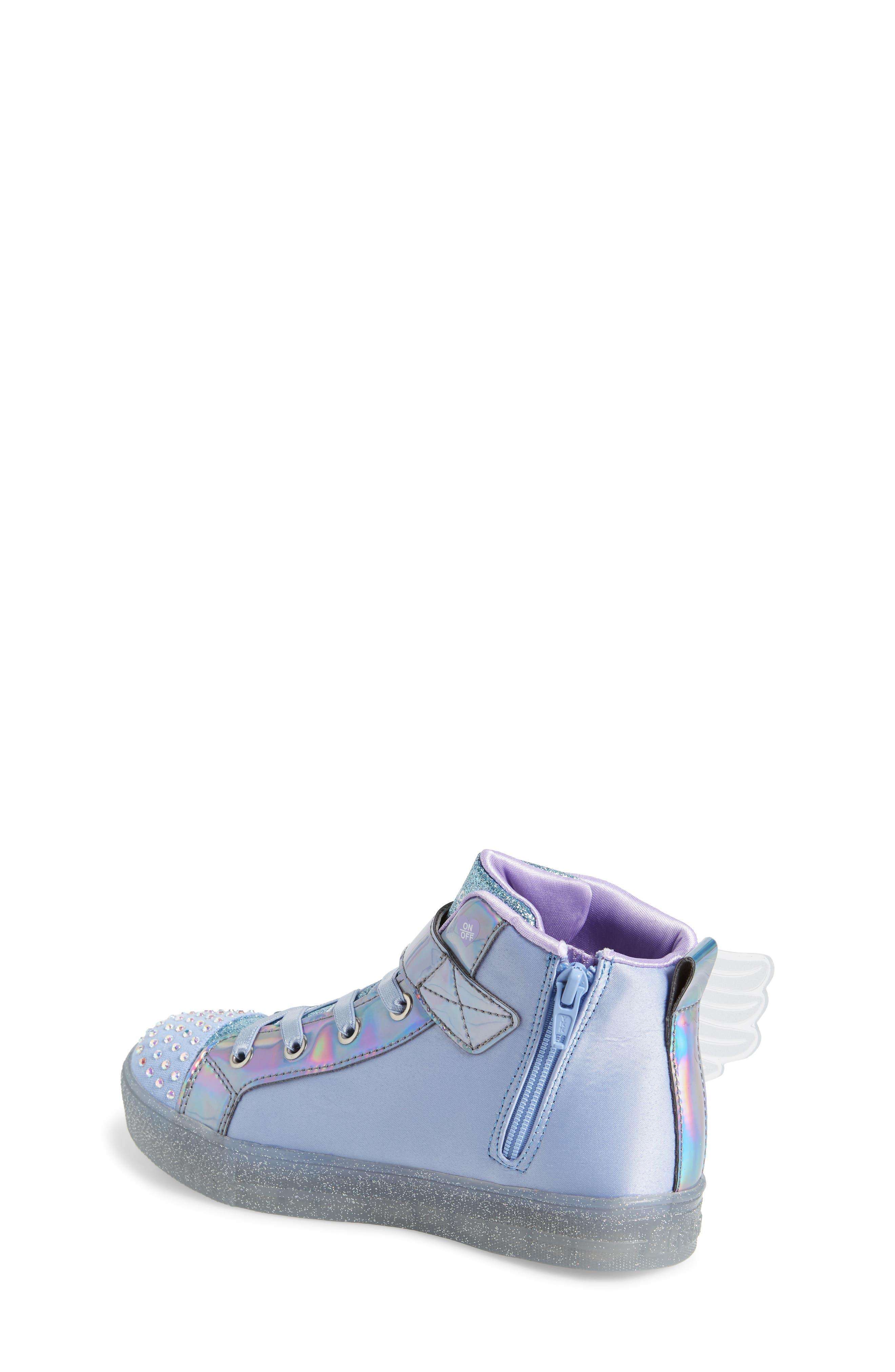 SKECHERS, Twinkle Toes Light-Up Sneaker, Alternate thumbnail 2, color, PERIWINKLE