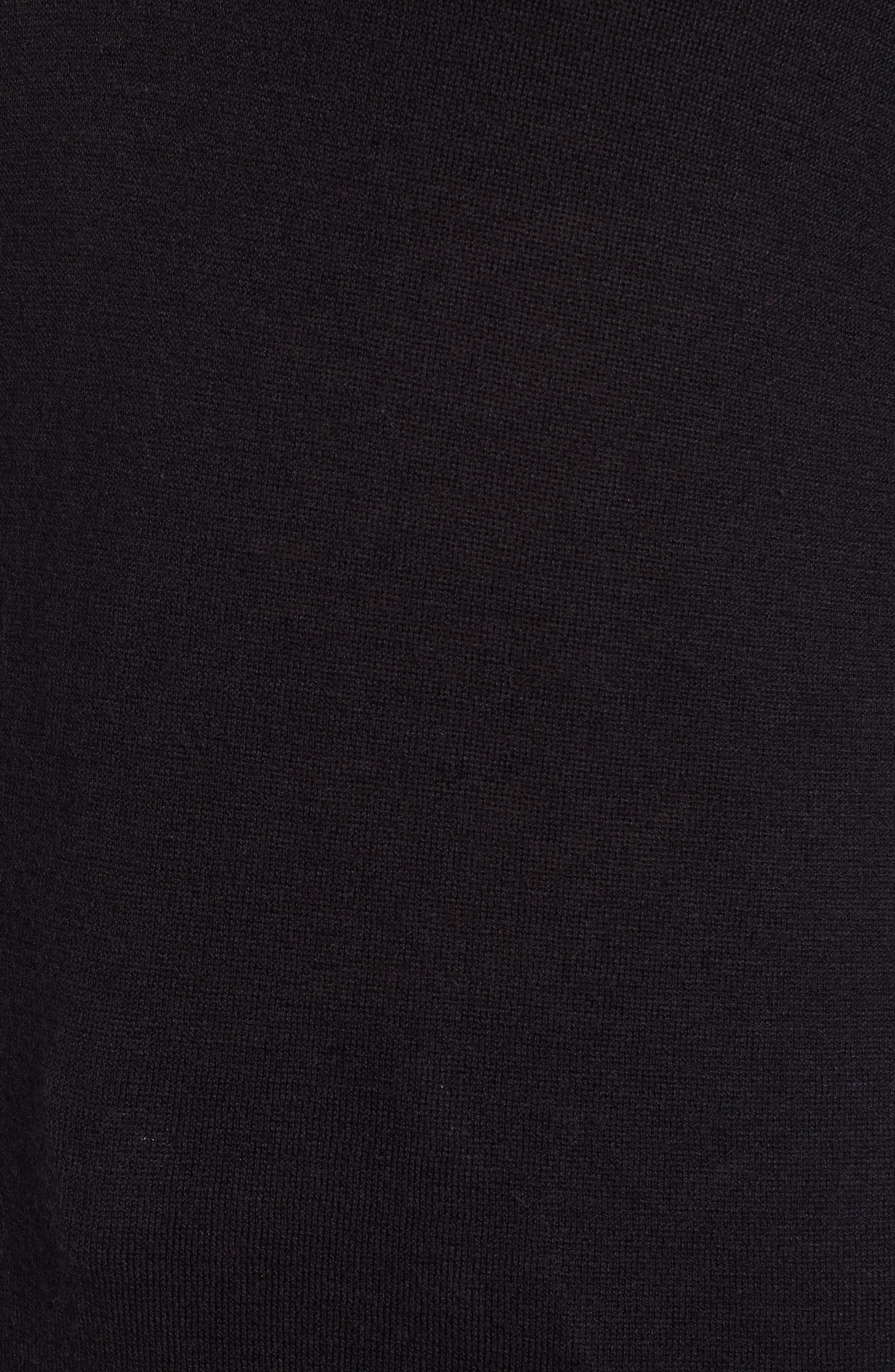 HALOGEN<SUP>®</SUP>, Relaxed V-Neck Sweater, Alternate thumbnail 5, color, BLACK