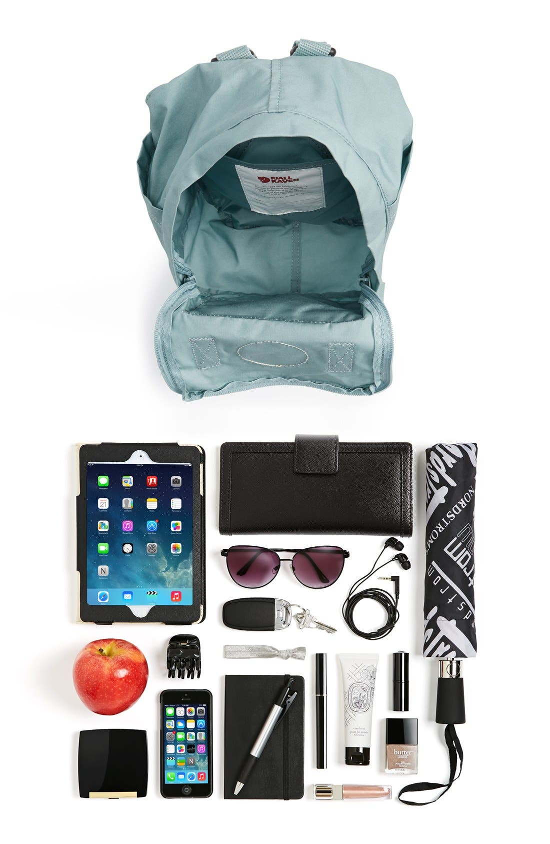 FJÄLLRÄVEN, 'Mini Kånken' Water Resistant Backpack, Alternate thumbnail 9, color, 001