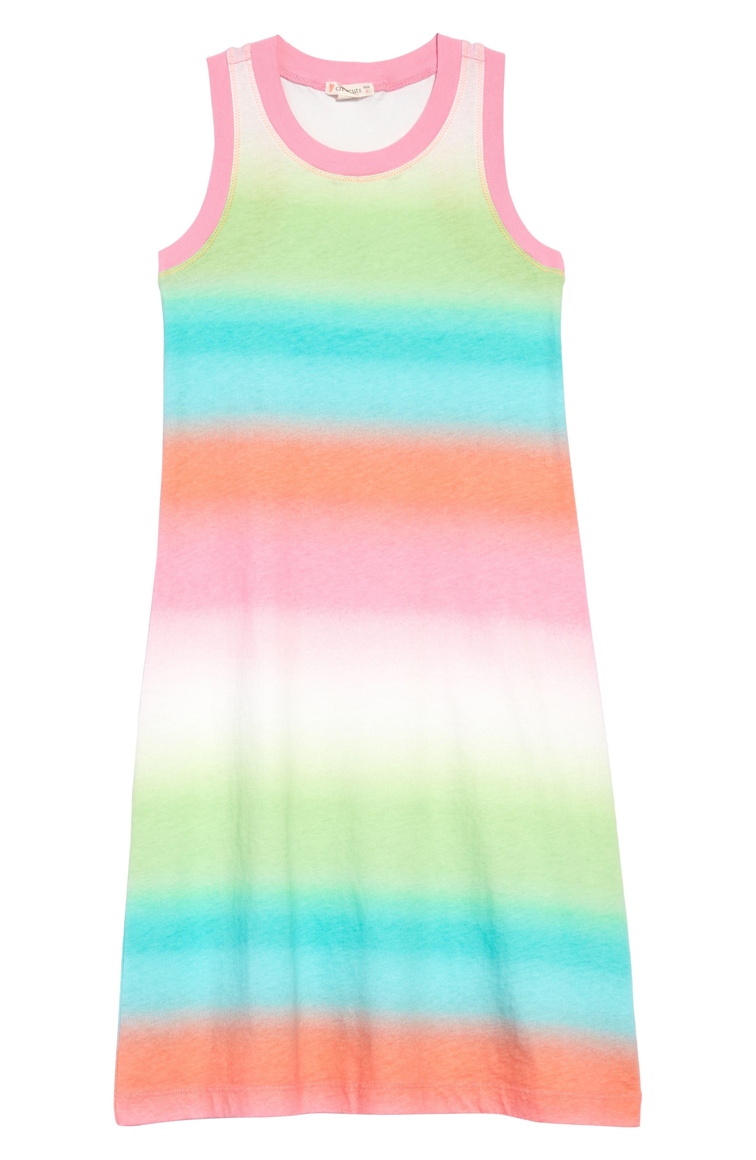 Girls Crewcuts By Jcrew Ombre Stripe Maxi Dress Size 16  Pink