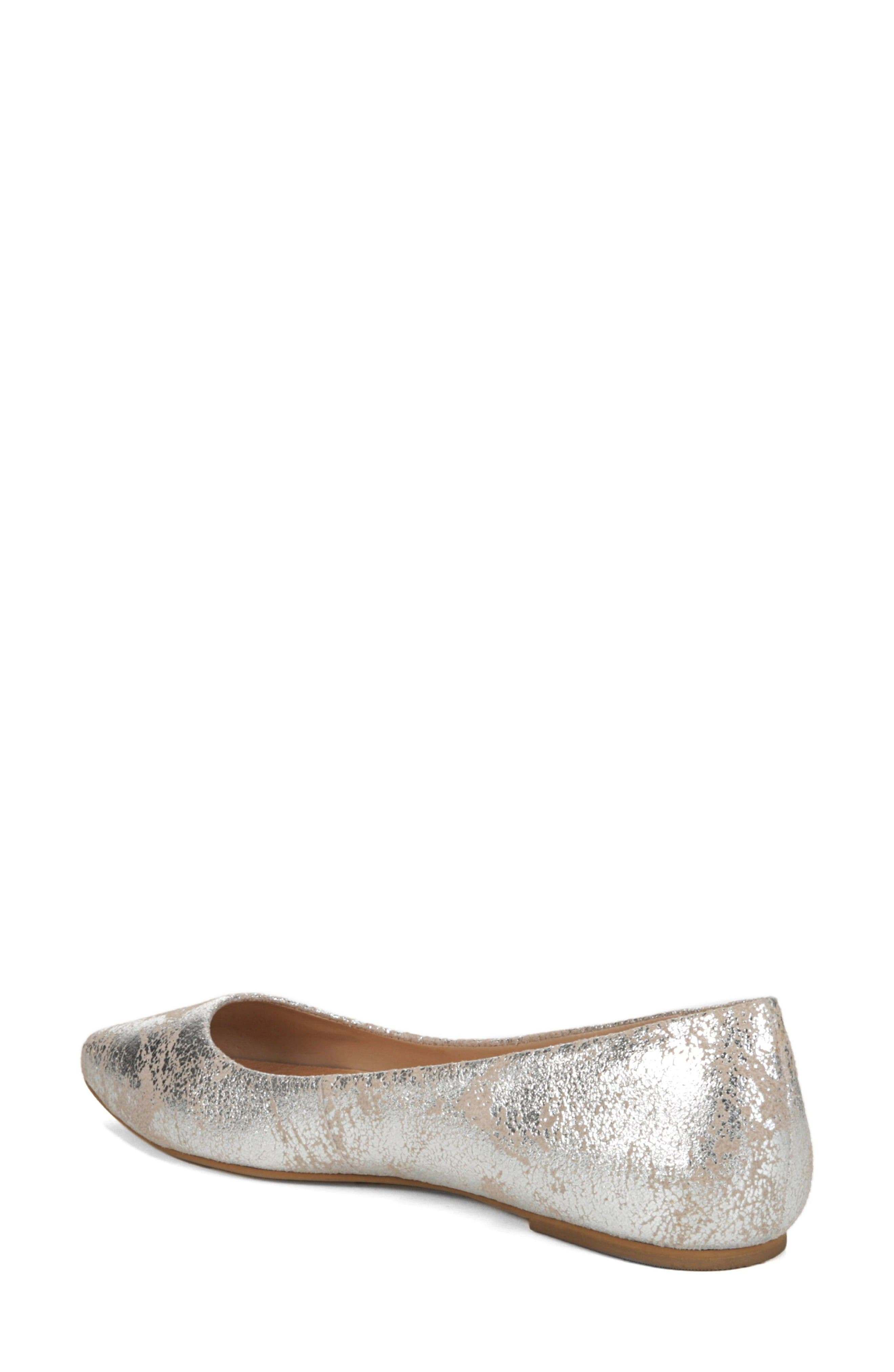 DR. SCHOLL'S, Original Collection Kimber Flat, Alternate thumbnail 2, color, PEWTER LEATHER