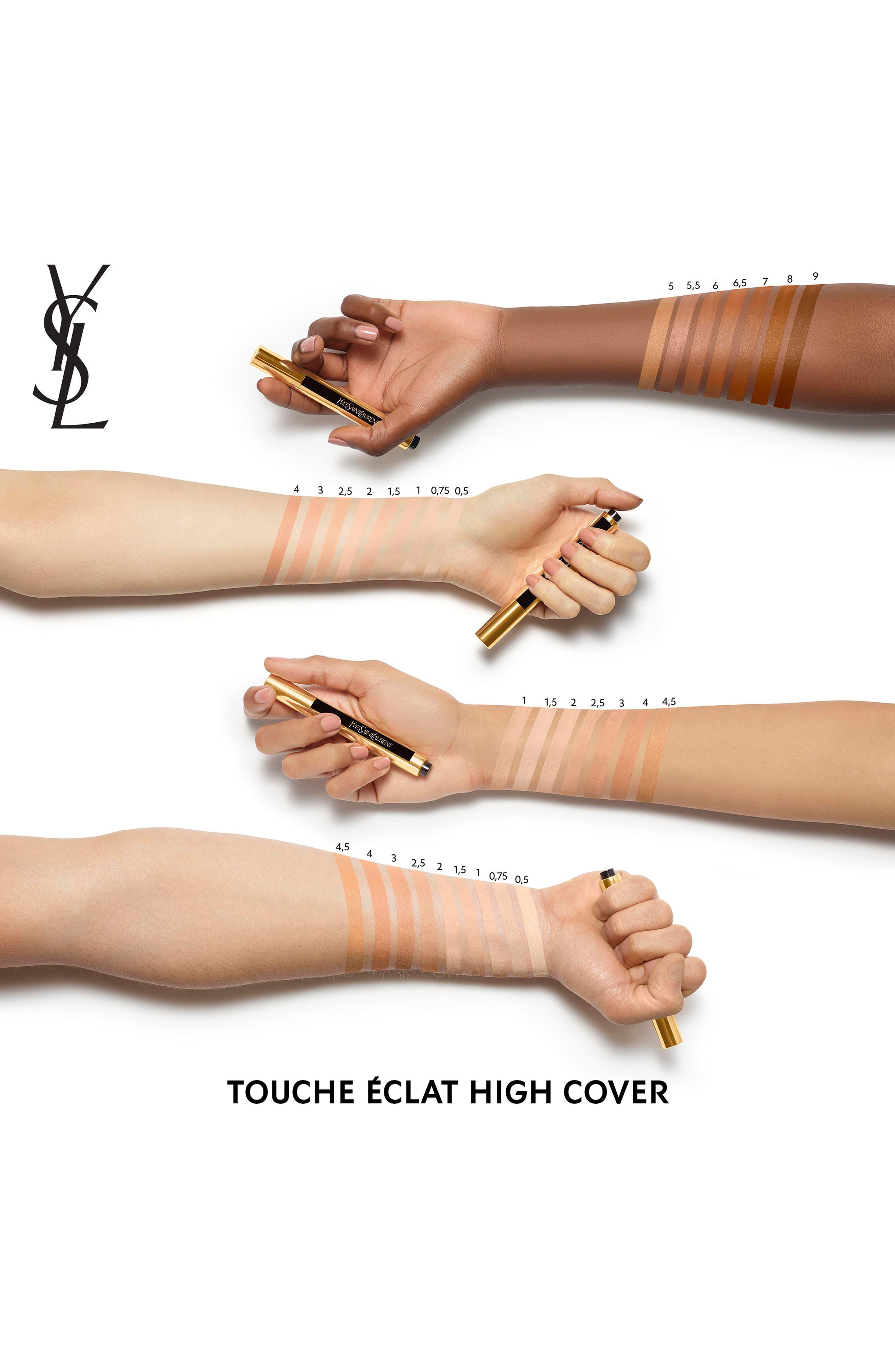 YVES SAINT LAURENT, Touche Eclat High Cover Radiant Concealer, Alternate thumbnail 3, color, 0.5 VANILLA