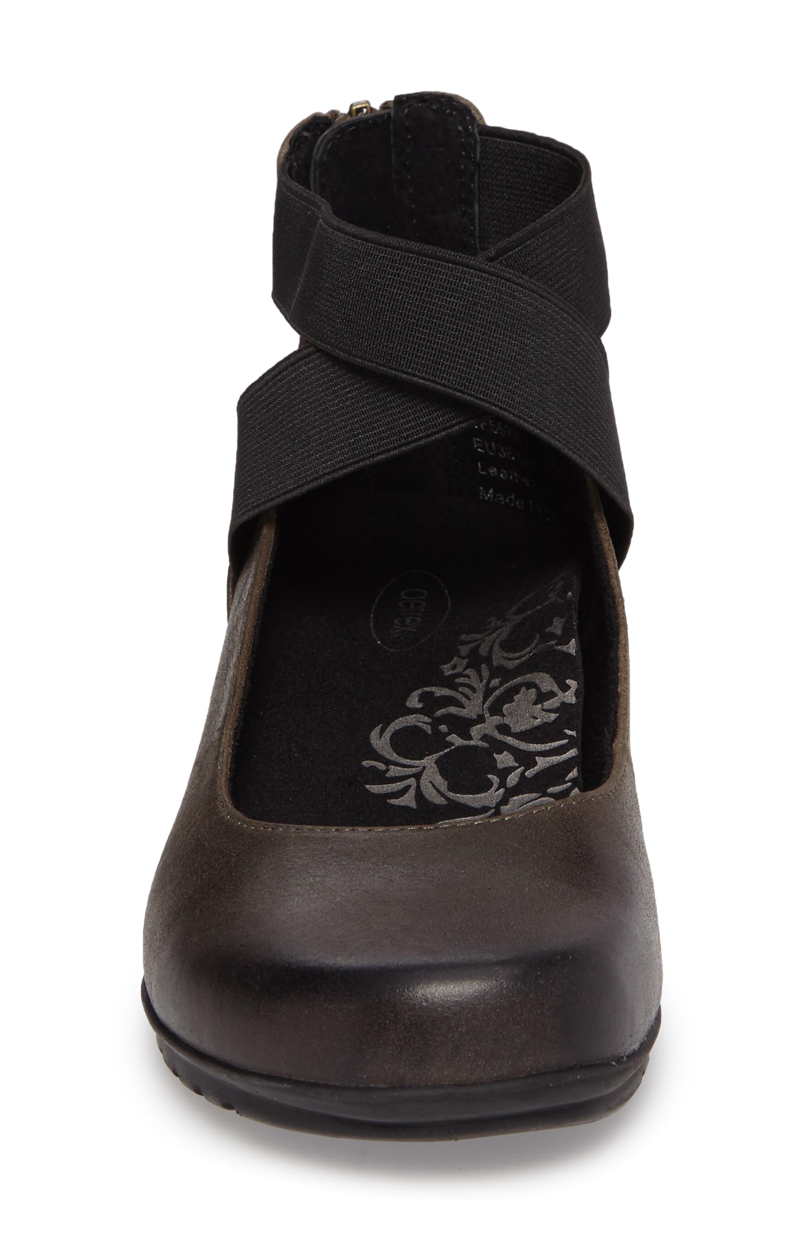 AETREX, 'Dakota' Ankle Strap Ballet Flat, Alternate thumbnail 4, color, 021