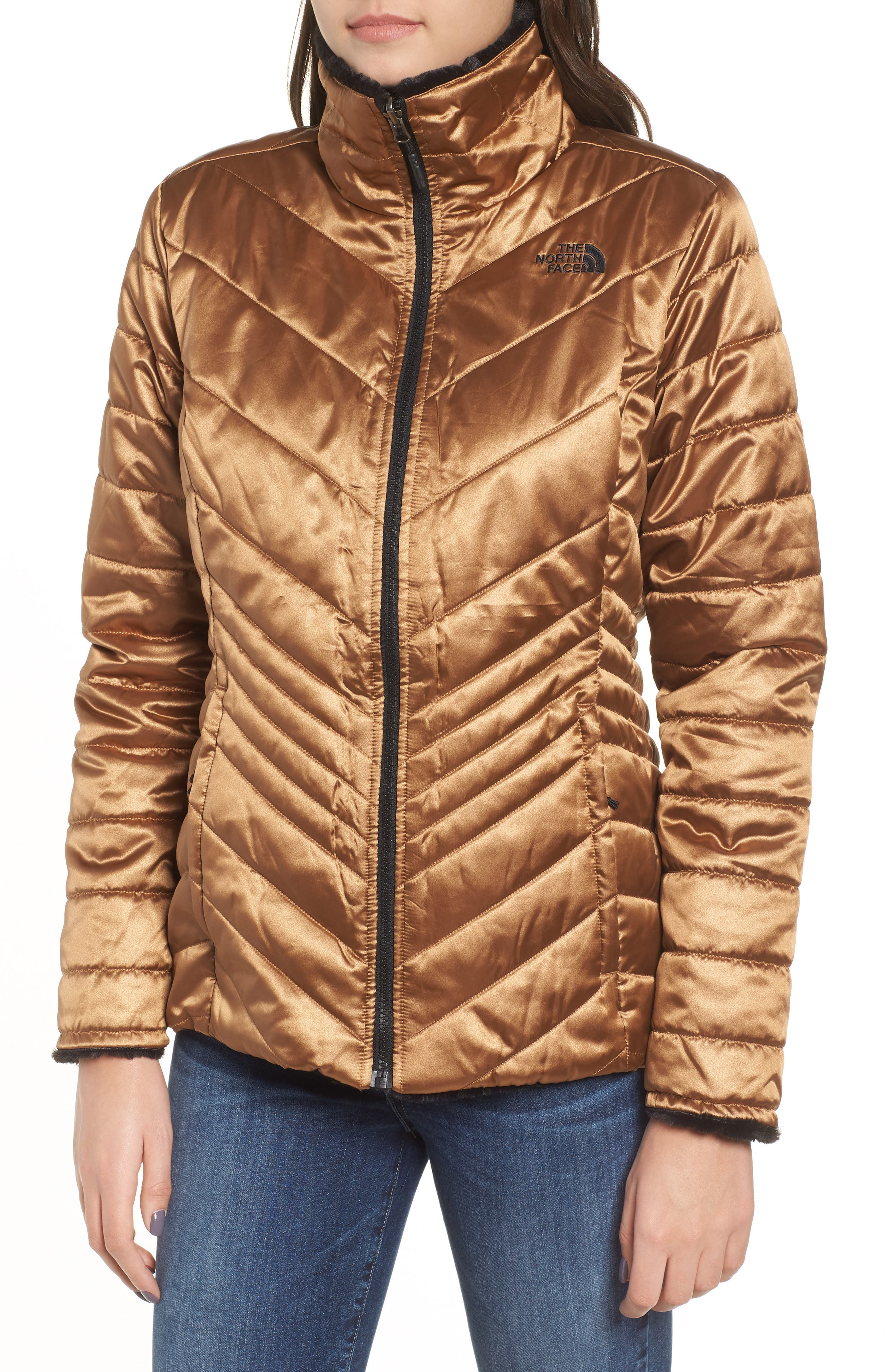 THE NORTH FACE, Mossbud Reversible Heatseeker<sup>™</sup> Wind Resistant Jacket, Alternate thumbnail 6, color, METALLIC COPPER/ TNF BLACK