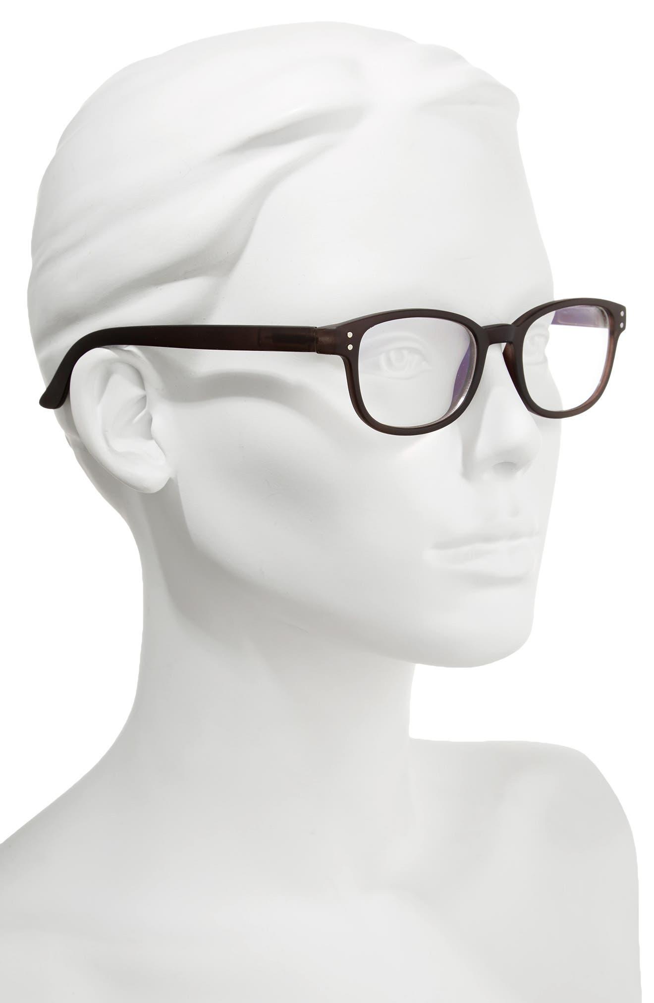 CORINNE MCCORMACK, ColorSpex<sup>®</sup> 50mm Blue Light Blocking Reading Glasses, Alternate thumbnail 2, color, BLACK