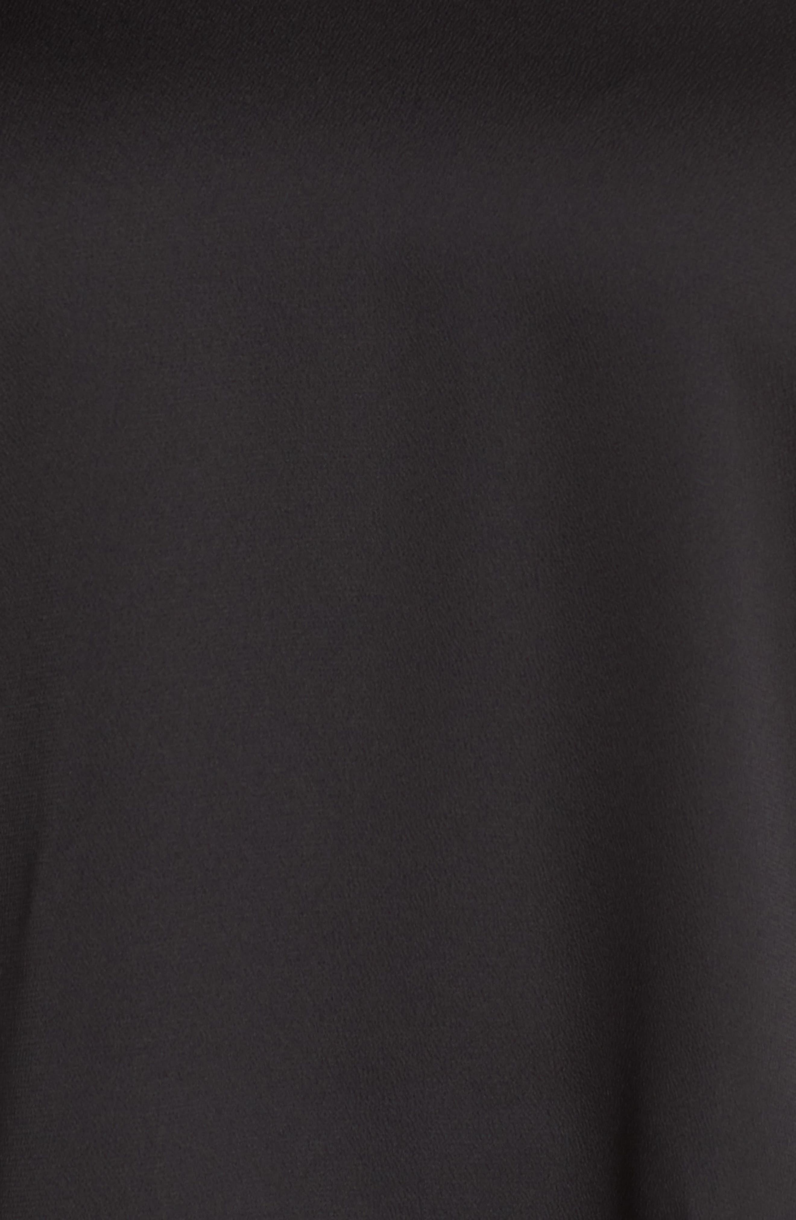 VINCE CAMUTO, Button Shoulder Bubble Sleeve Satin Blouse, Alternate thumbnail 5, color, RICH BLACK