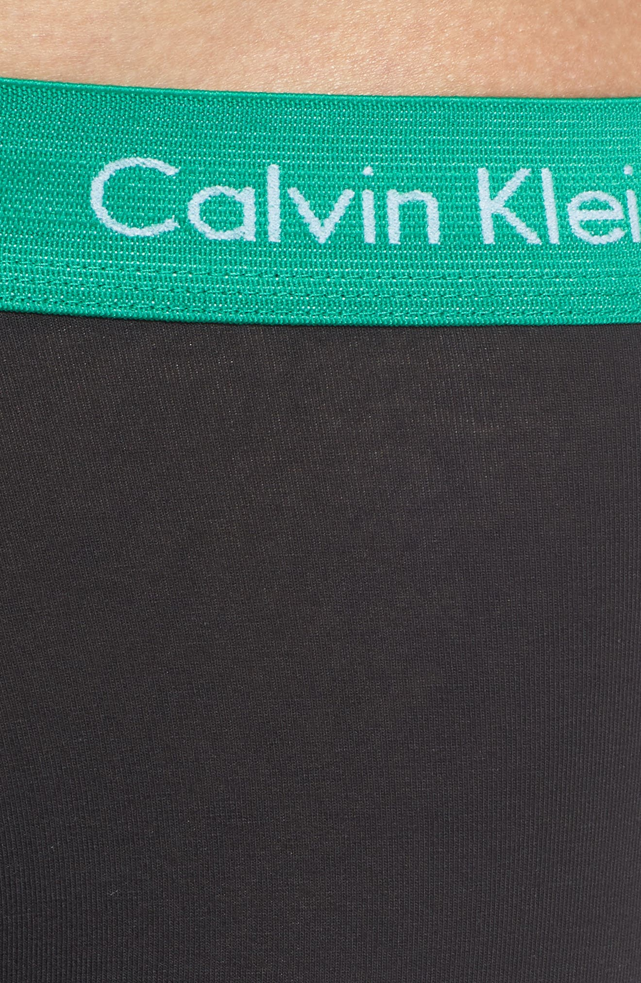 CALVIN KLEIN, 3-Pack Stretch Cotton Low Rise Trunks, Alternate thumbnail 5, color, 006