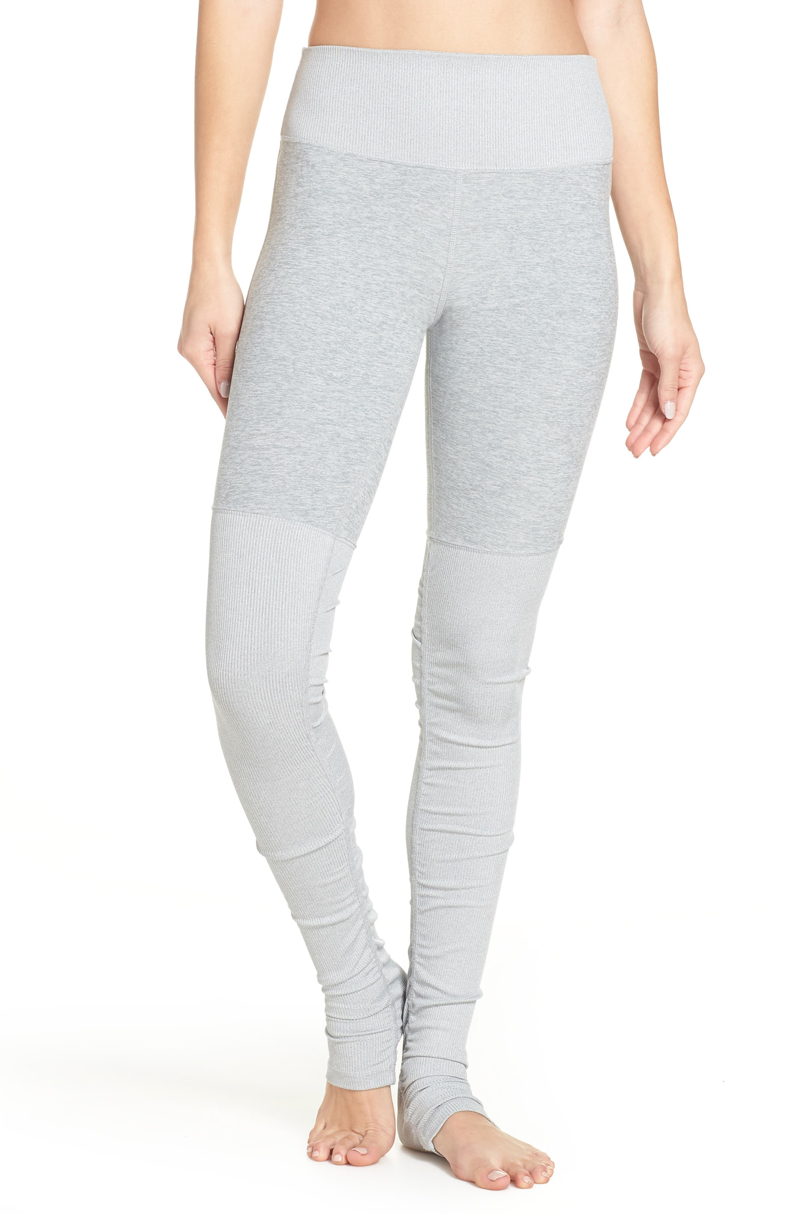 ALO, Alosoft Goddess Leggings, Main thumbnail 1, color, ZINC HEATHER