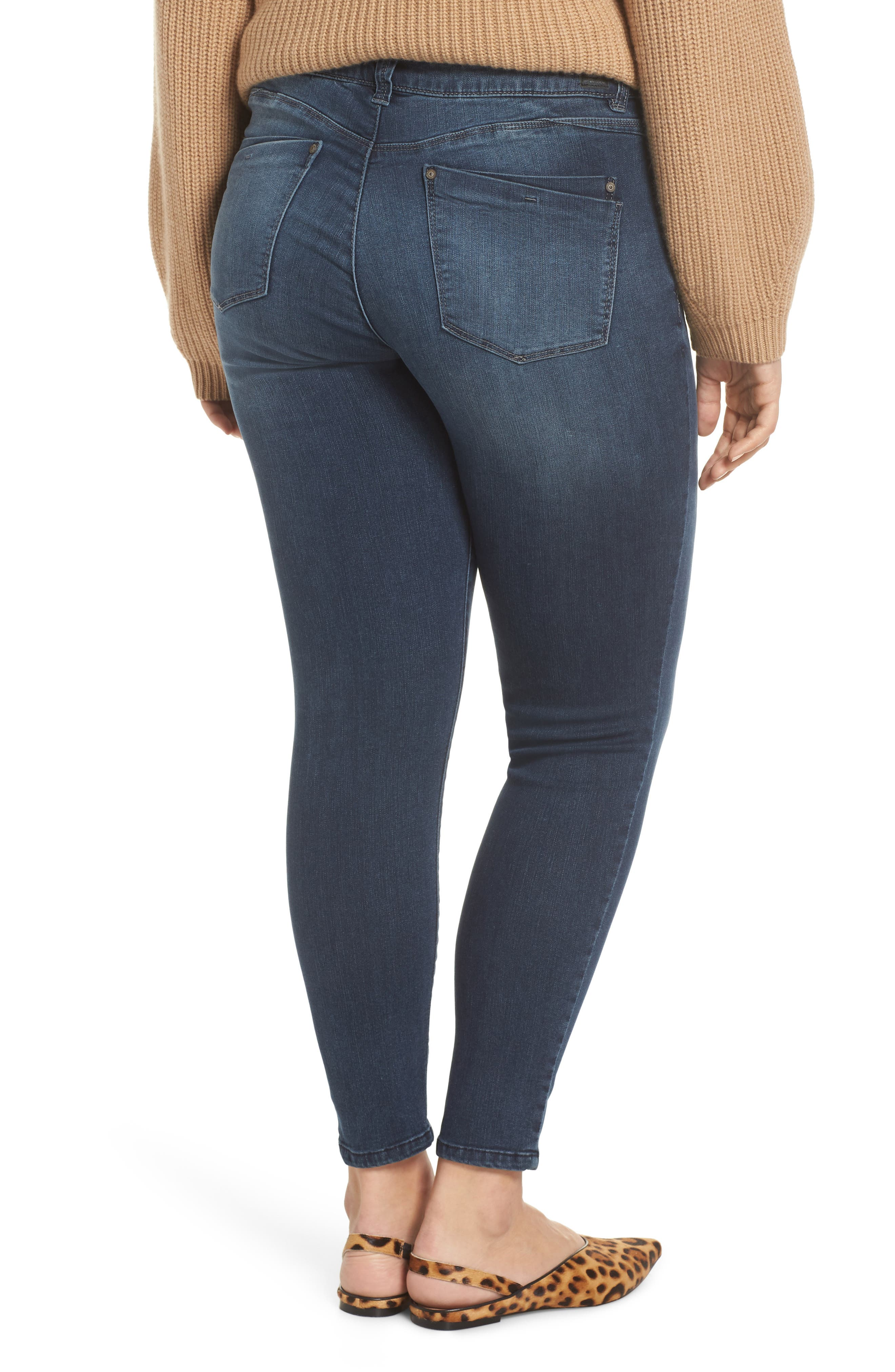 WIT & WISDOM, Contemporary Skinny Jeans, Alternate thumbnail 8, color, 402