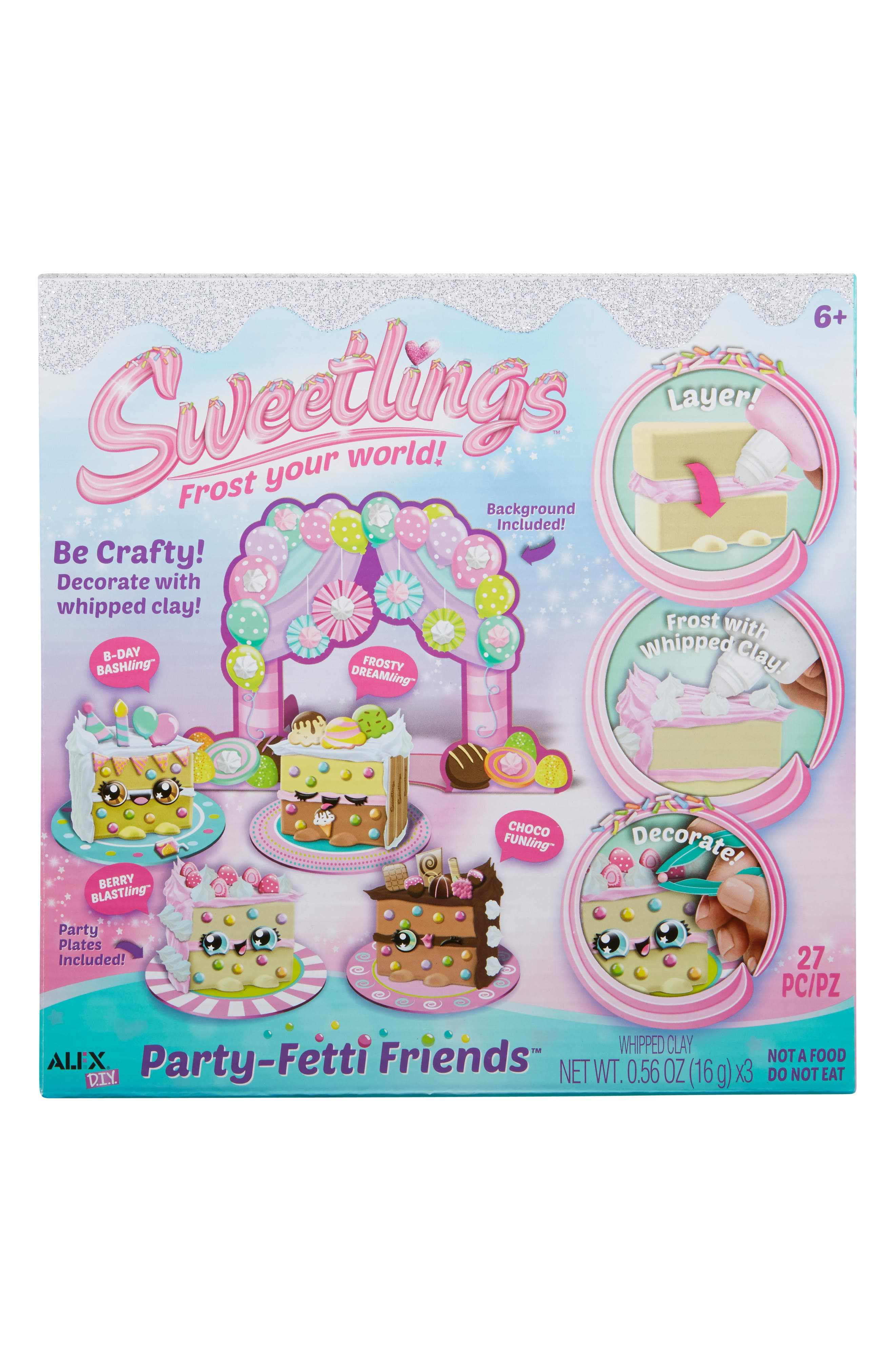 ALEX<SUP>®</SUP> TOYS, DIY Sweetlings Party Fetti Friends, Main thumbnail 1, color, 960