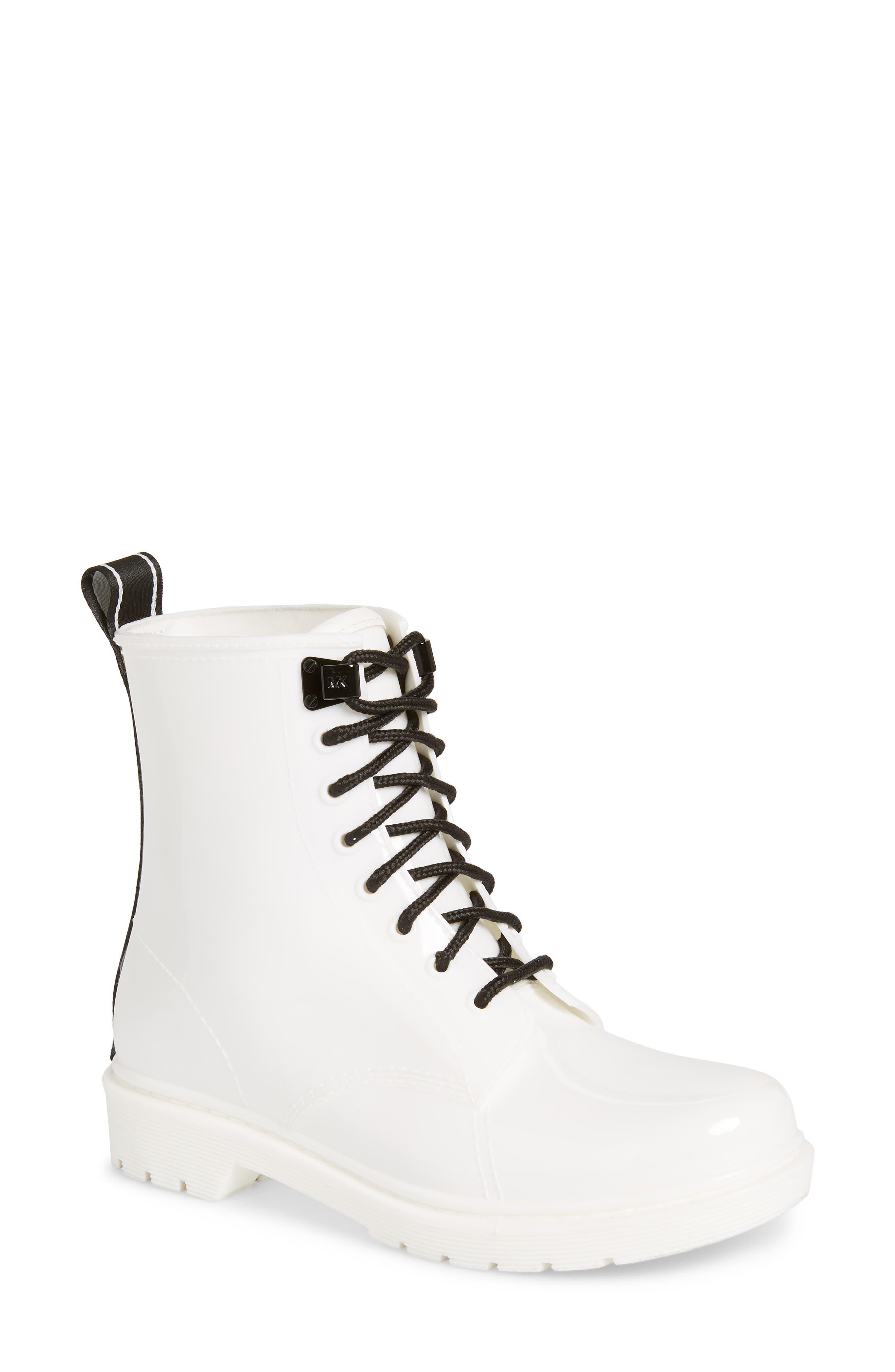 MICHAEL MICHAEL KORS Tavie Rain Boot, Main, color, OPTIC WHITE