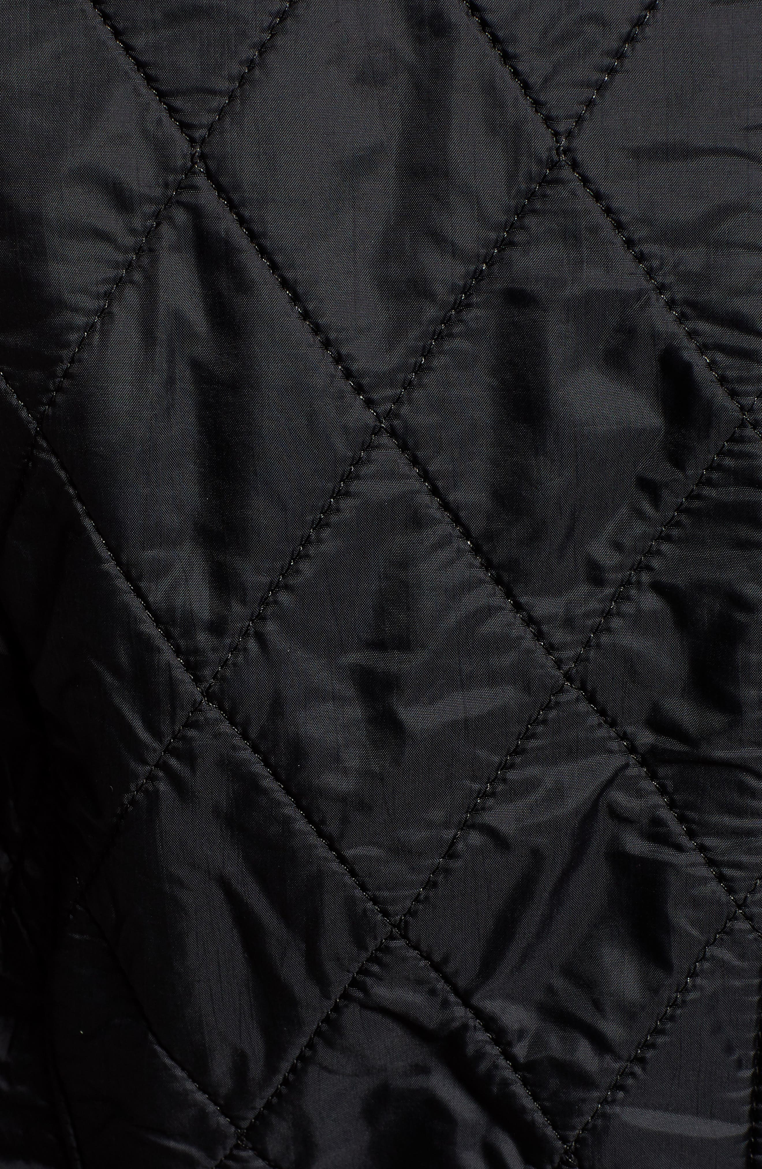 BARBOUR, 'Cavalry' Quilted Jacket, Alternate thumbnail 6, color, 001