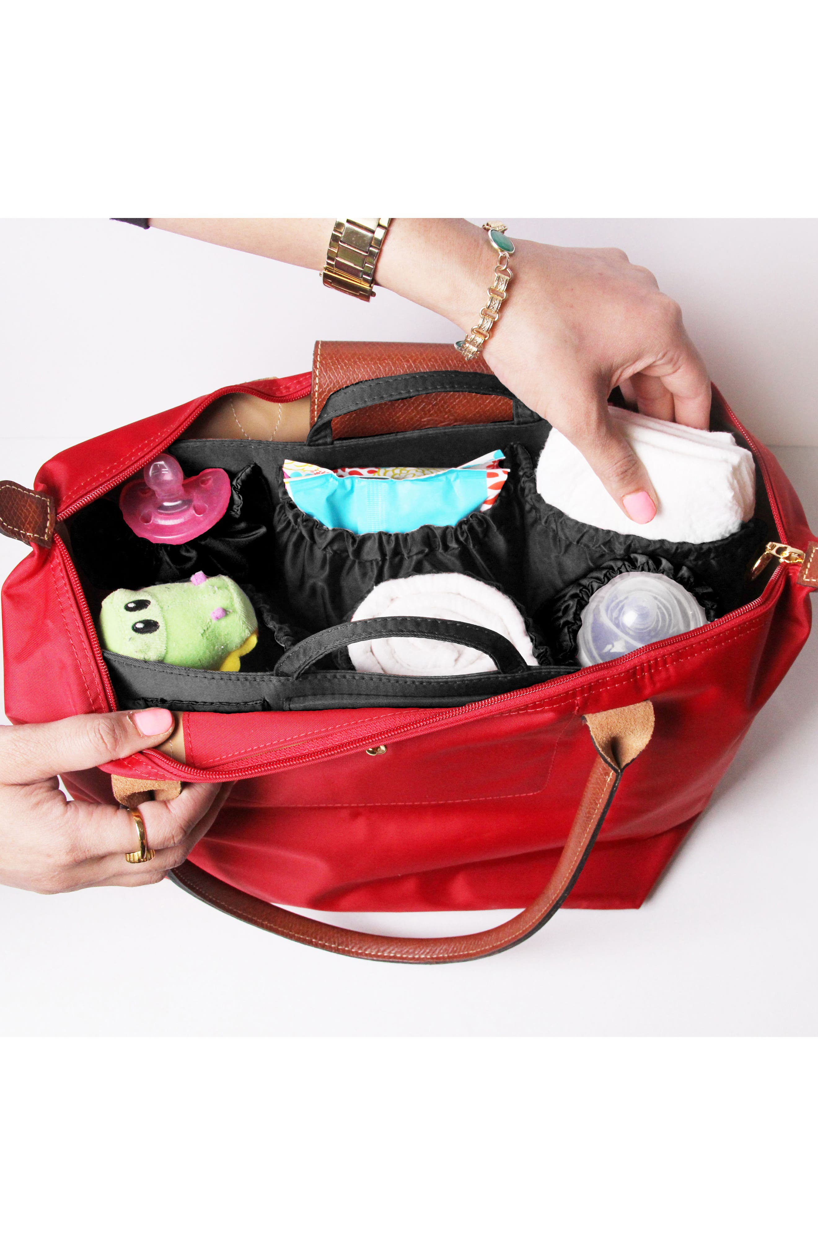 TOTESAVVY, Organization Handbag Insert, Alternate thumbnail 2, color, CLASSIC BLACK