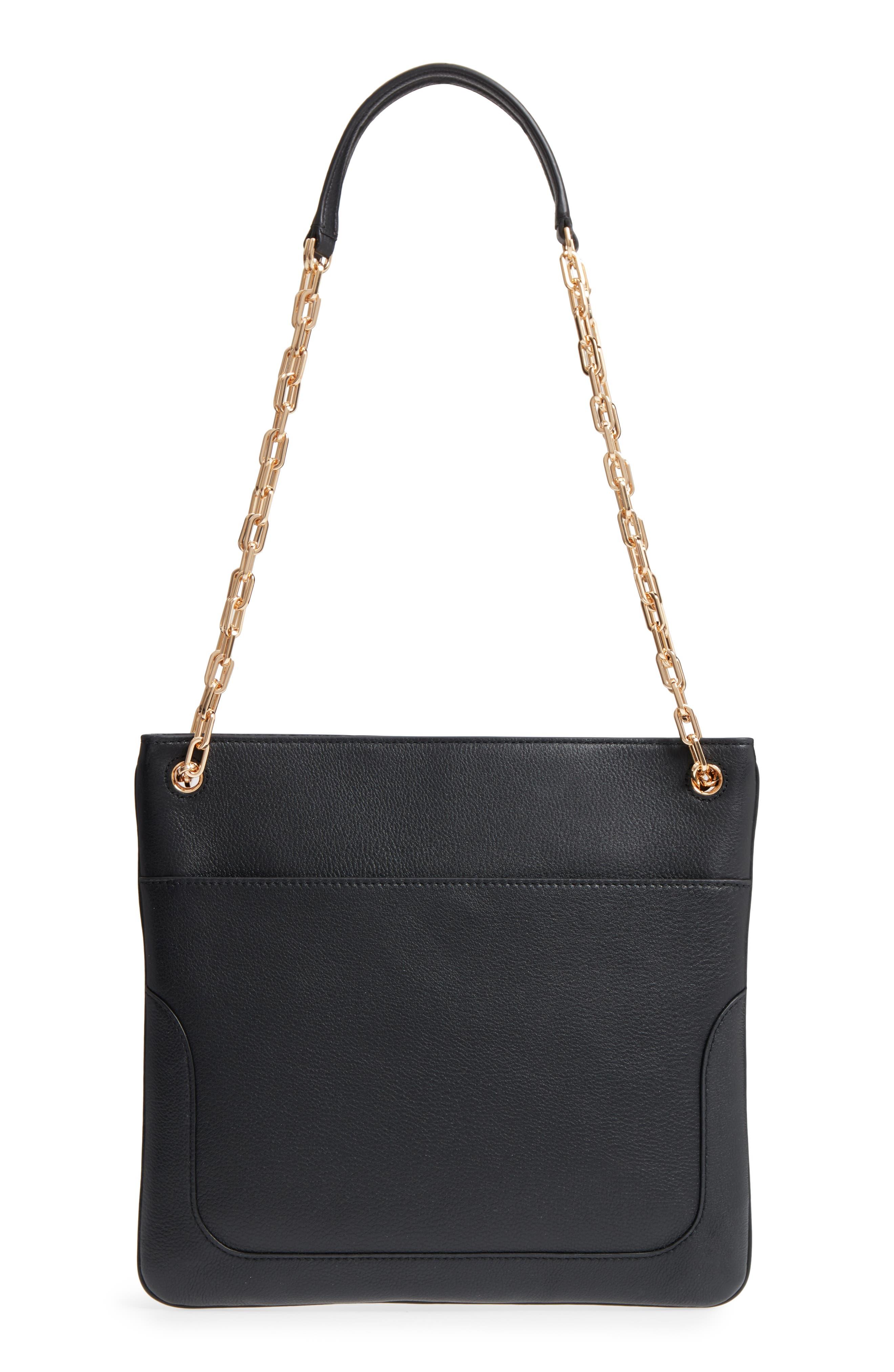 TORY BURCH, Marsden Swingpack Leather Crossbody Bag, Alternate thumbnail 3, color, 001