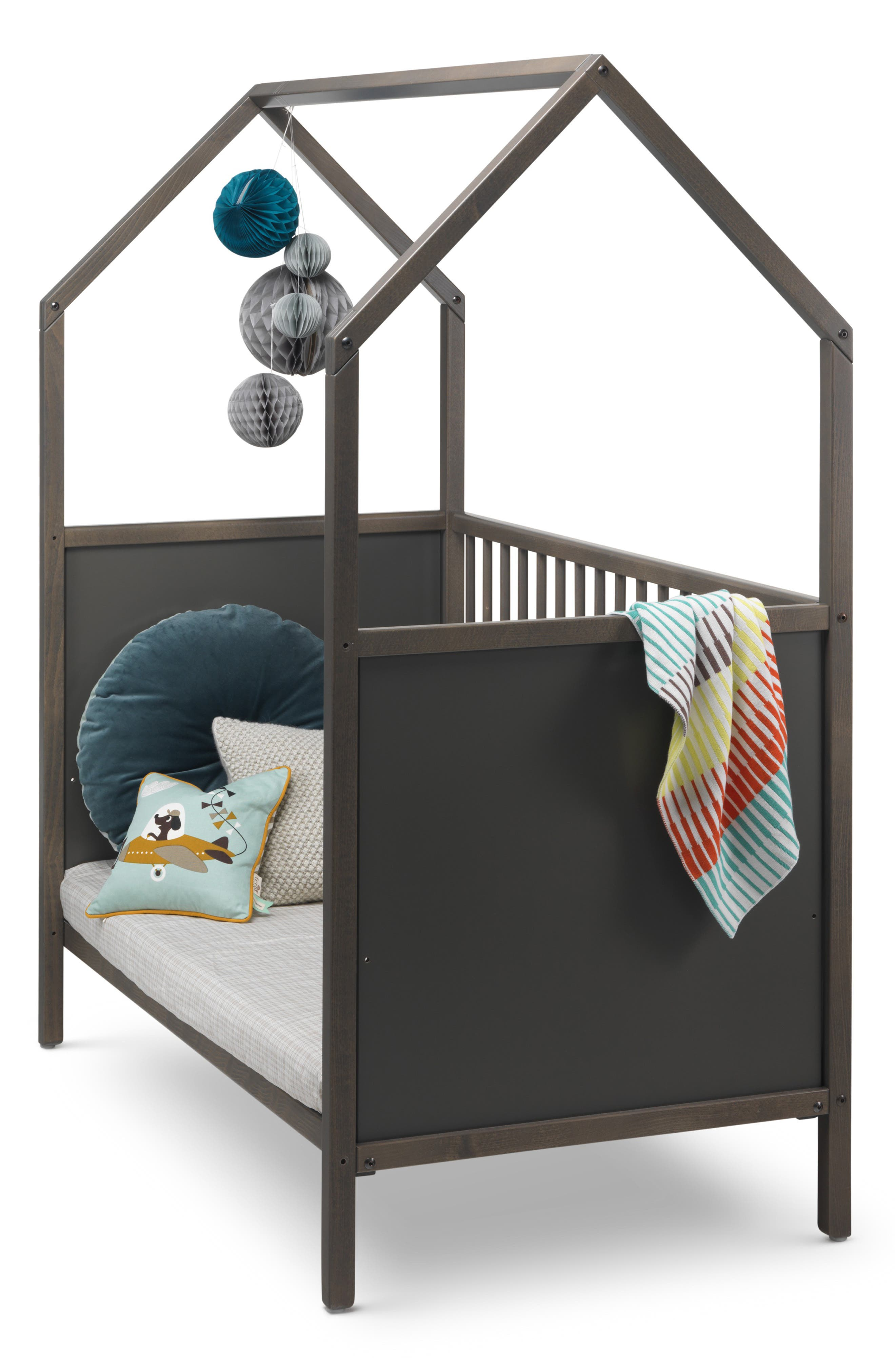 STOKKE, 'Home<sup>™</sup>' Bed, Alternate thumbnail 2, color, HAZY GREY