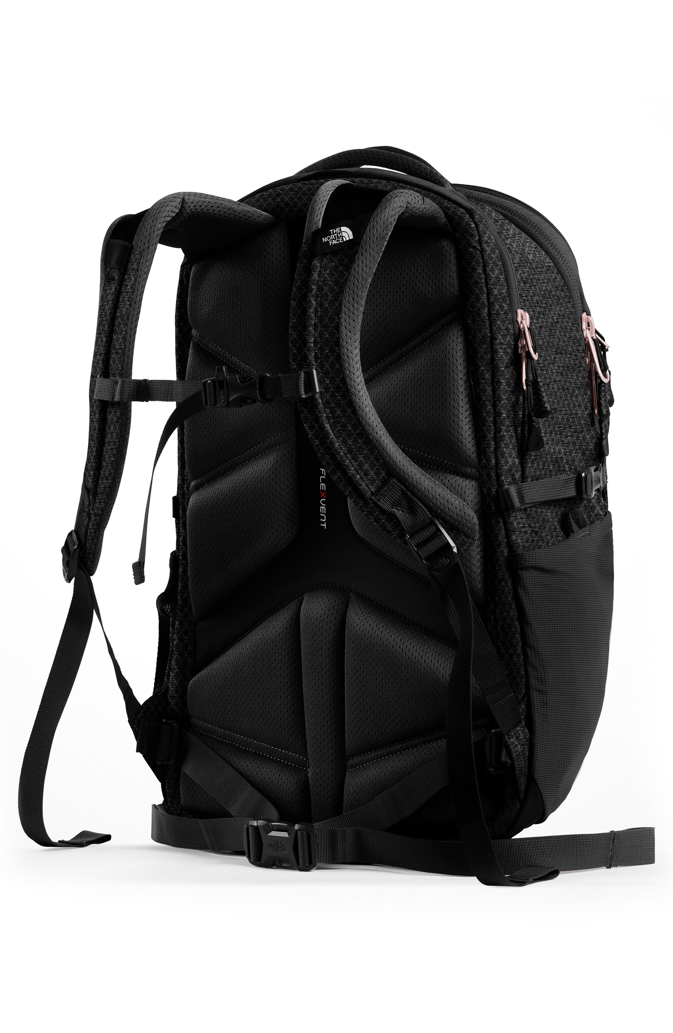 THE NORTH FACE, Borealis Backpack, Alternate thumbnail 4, color, TNF BLACK/ BURNT CORAL